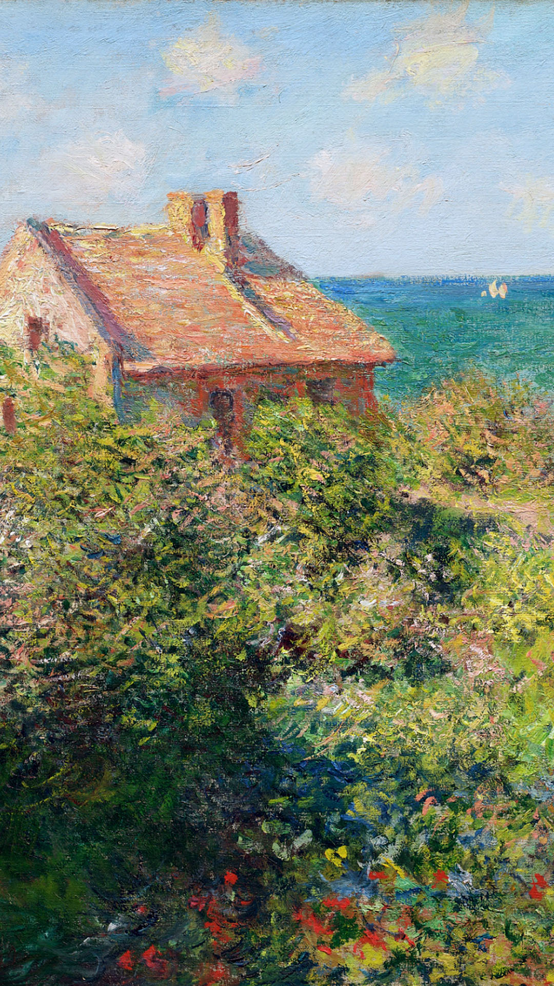 Claude Monet - Fisherman's Cottage at Varengeville 1080x1920