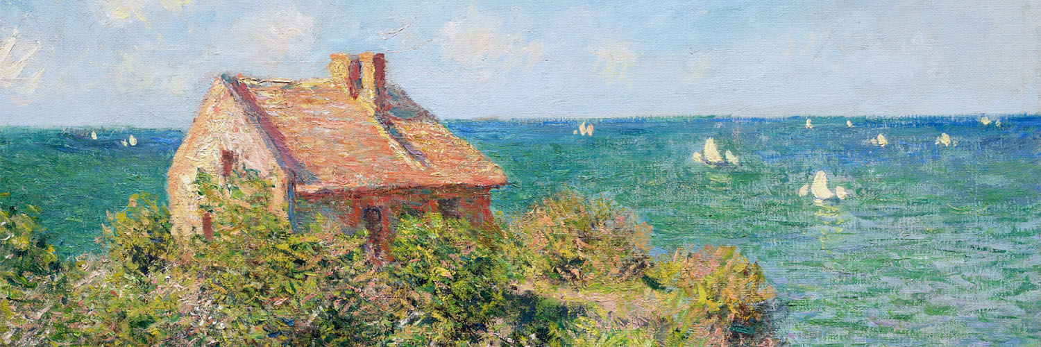 Claude Monet - Fisherman's Cottage at Varengeville 1500x500