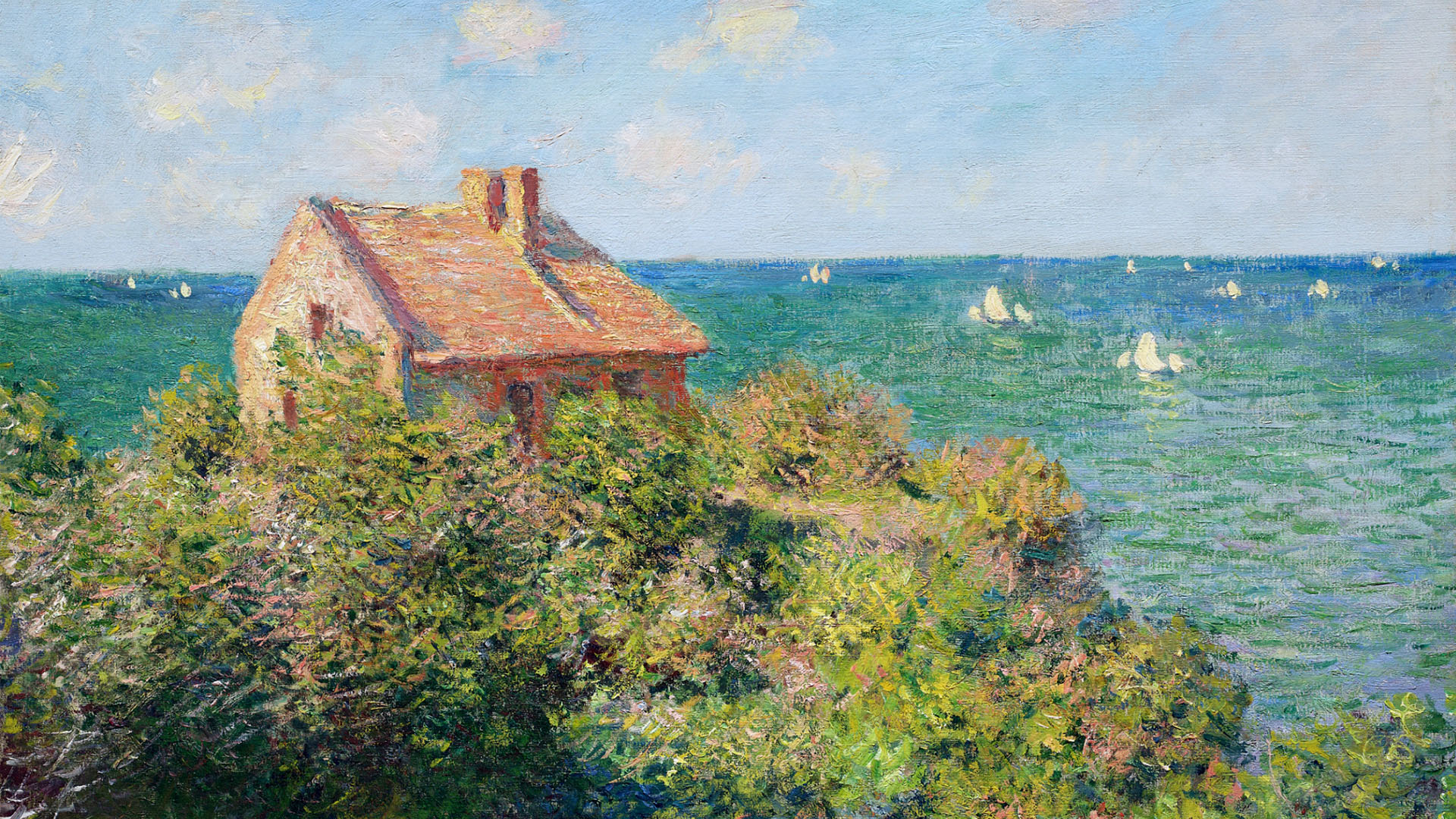 Claude Monet - Fisherman's Cottage at Varengeville 1920x1080
