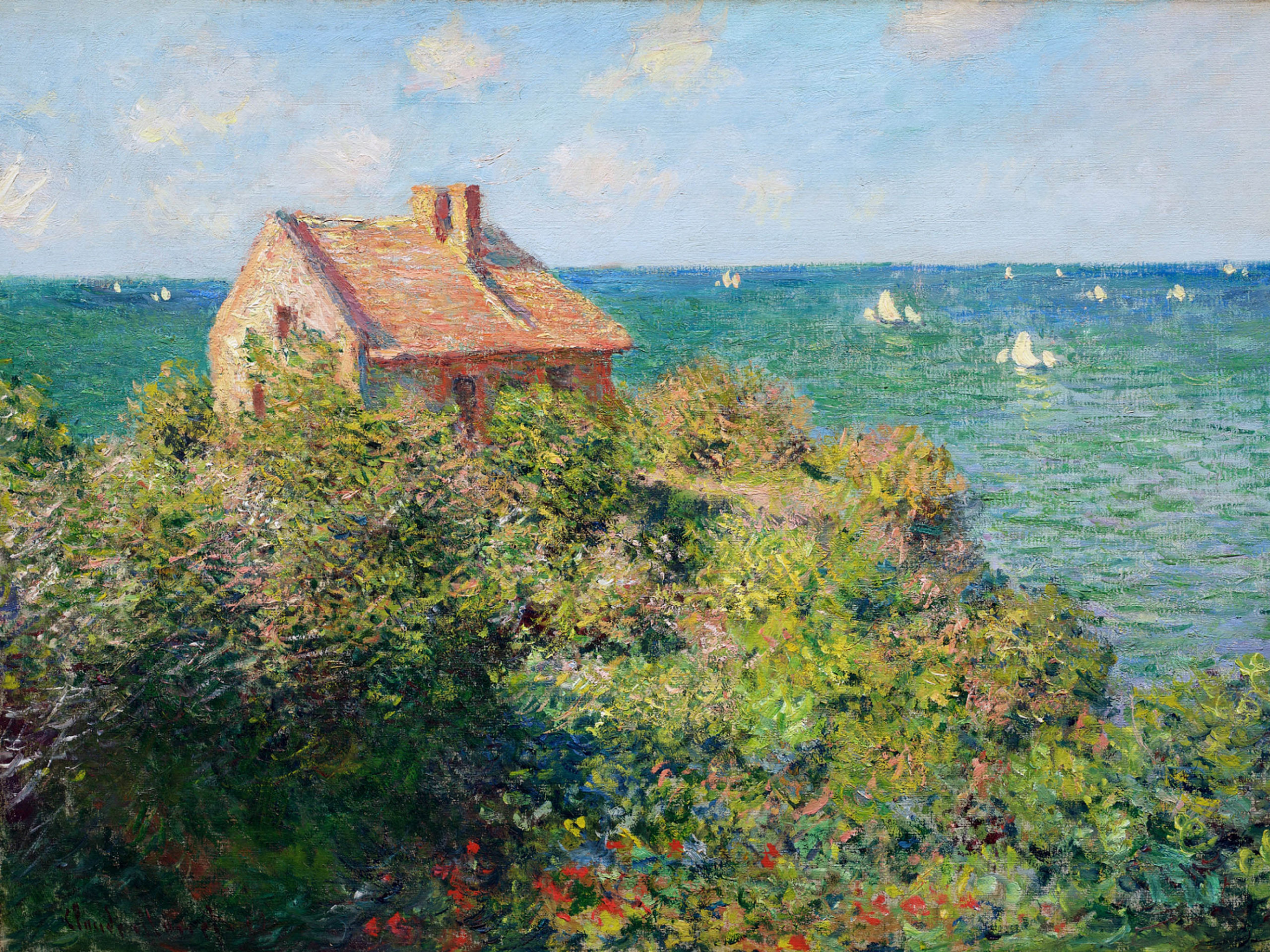 Claude Monet - Fisherman's Cottage at Varengeville 2732x2048