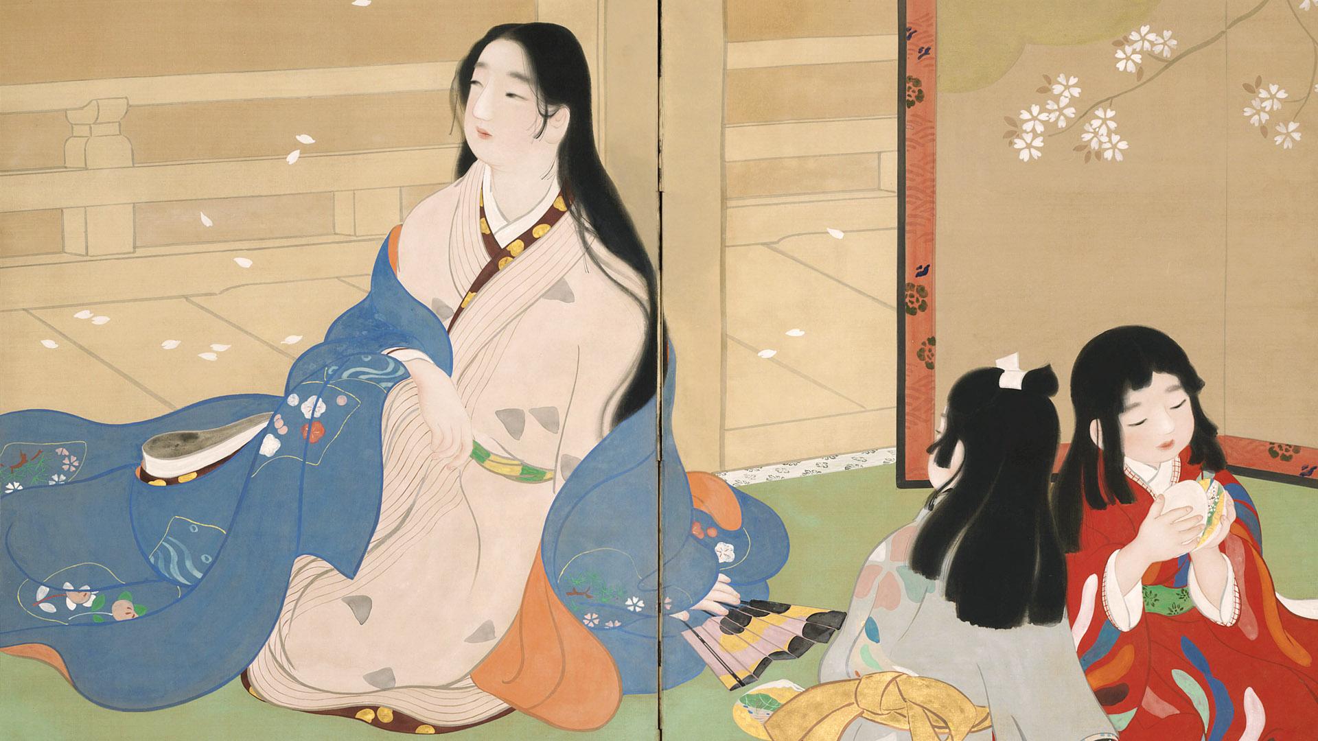 池田蕉園 貝あはせ Ikeda Shoen - Kai awase 1920x1080