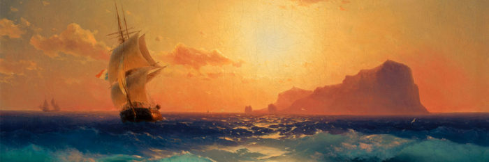 Ivan Aivazovsky Sunset over ischia 1500x500