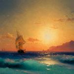 イヴァン・アイヴァゾフスキー / Sunset over ischia
