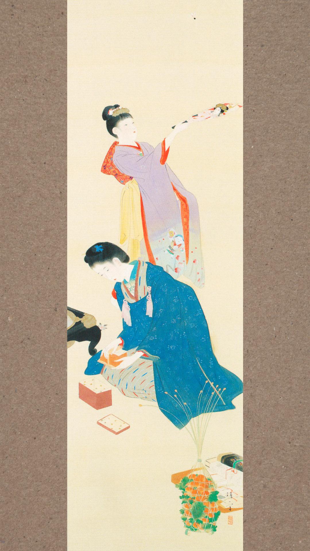 Kaburaki Kiyokata - Meiji 12 fuzoku 01 karuta 1080x1920 2