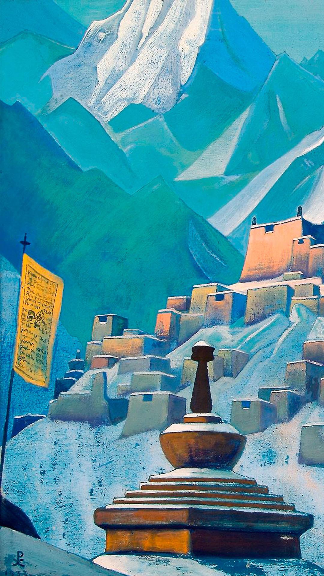 Nicholas Roerich - Tibet, Himalayas 1080x1920