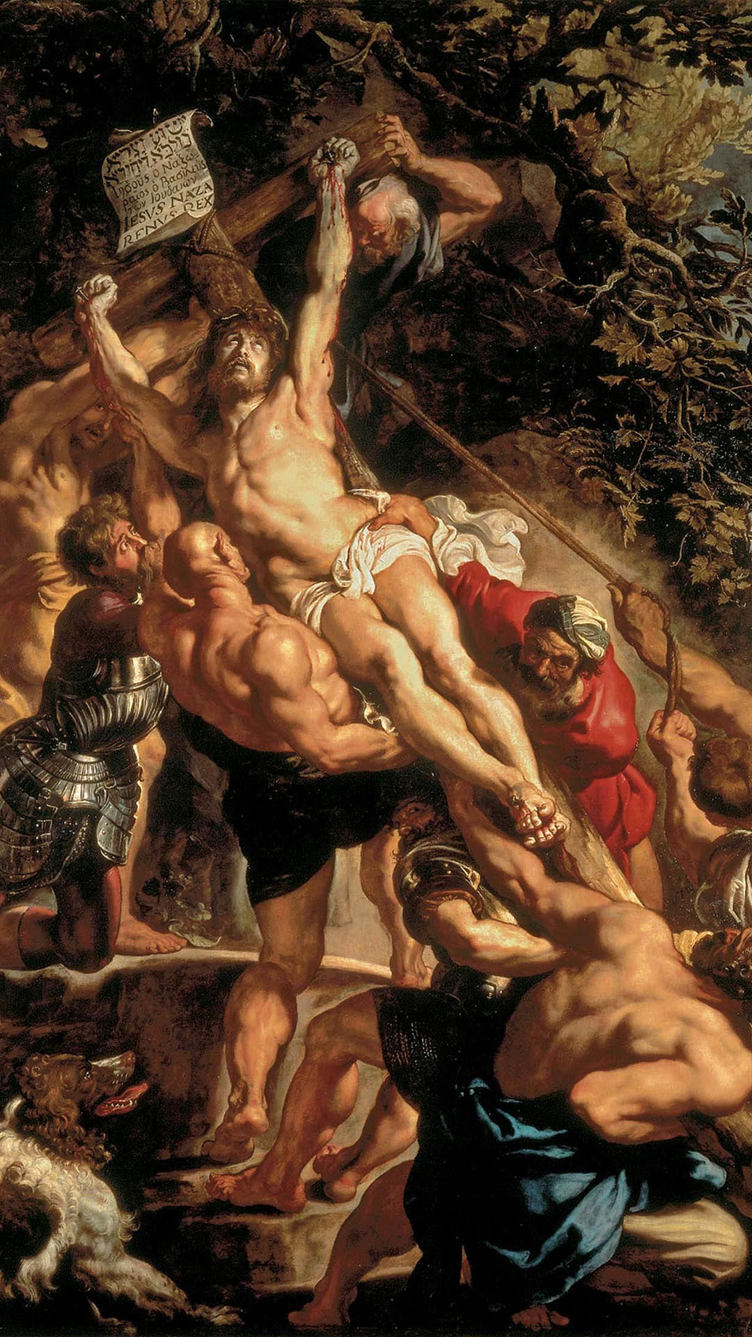 Peter Paul Rubens - The Elevation of the Cross 1080x1920