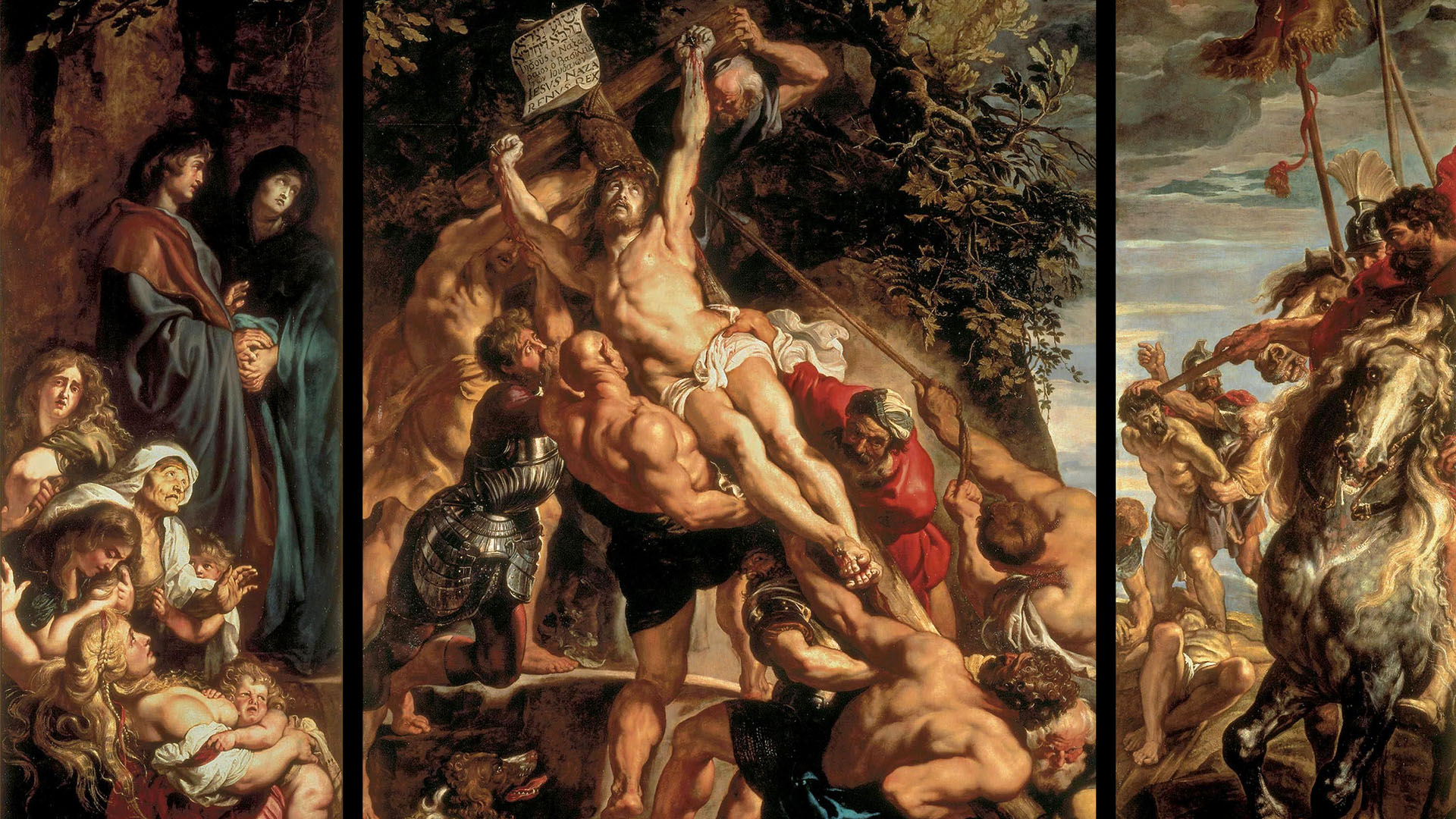 ルーベンス Peter Paul Rubens - The Elevation of the Cross 1920x1080