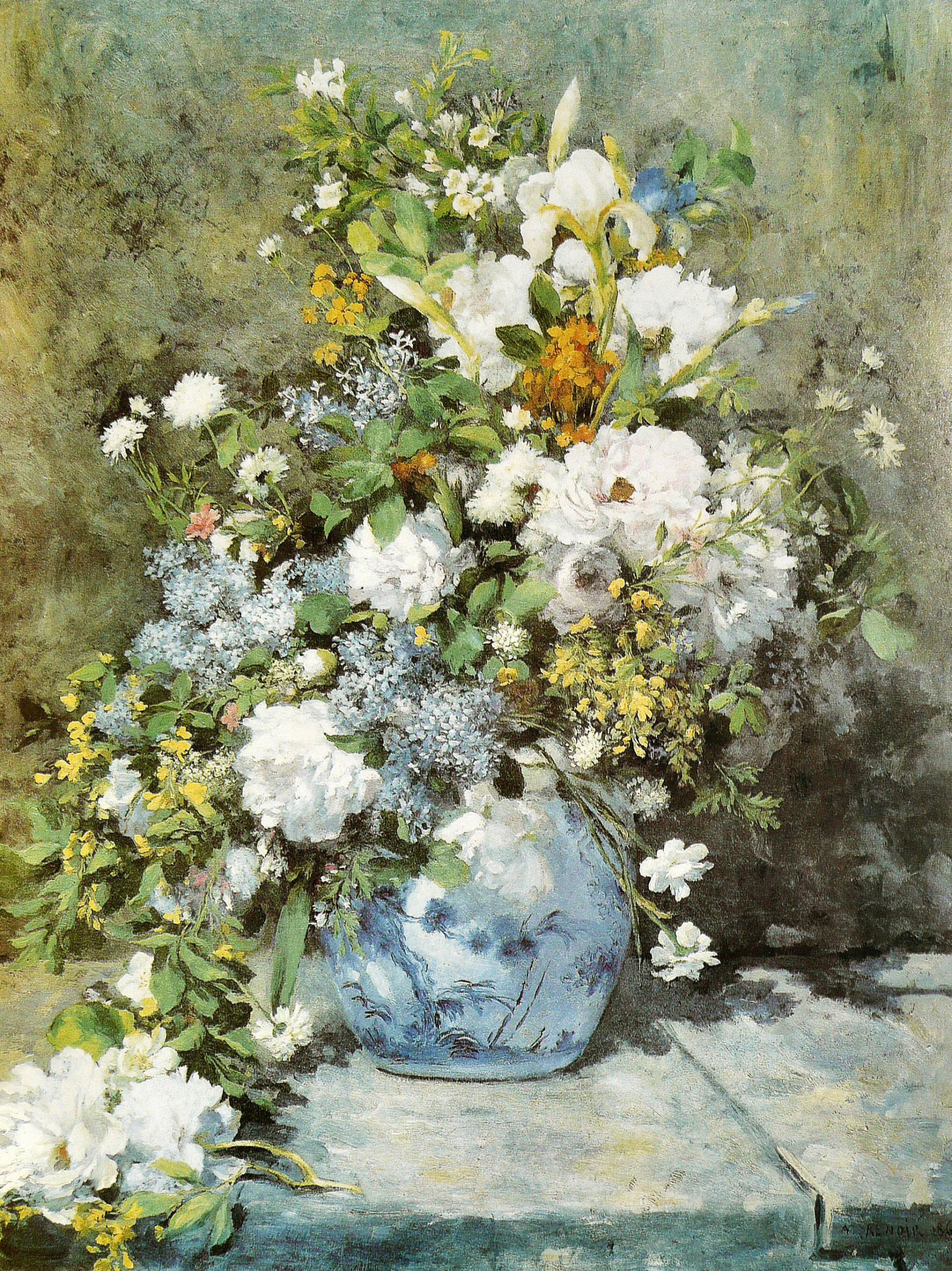 Pierre Auguste Renoir - Bouquet printanier 2048x2732