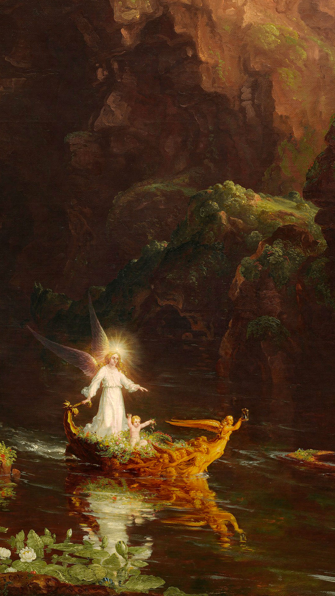 Thomas Cole - The Voyage of Life Childhood 1080x1920