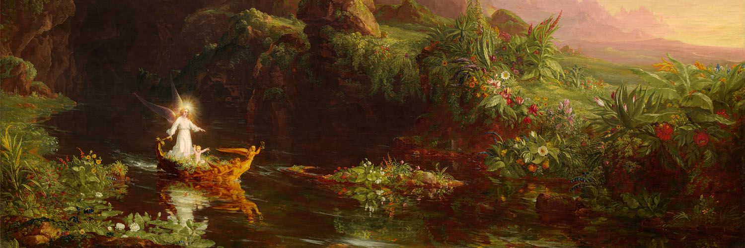 Thomas Cole - The Voyage of Life Childhood 1500x500