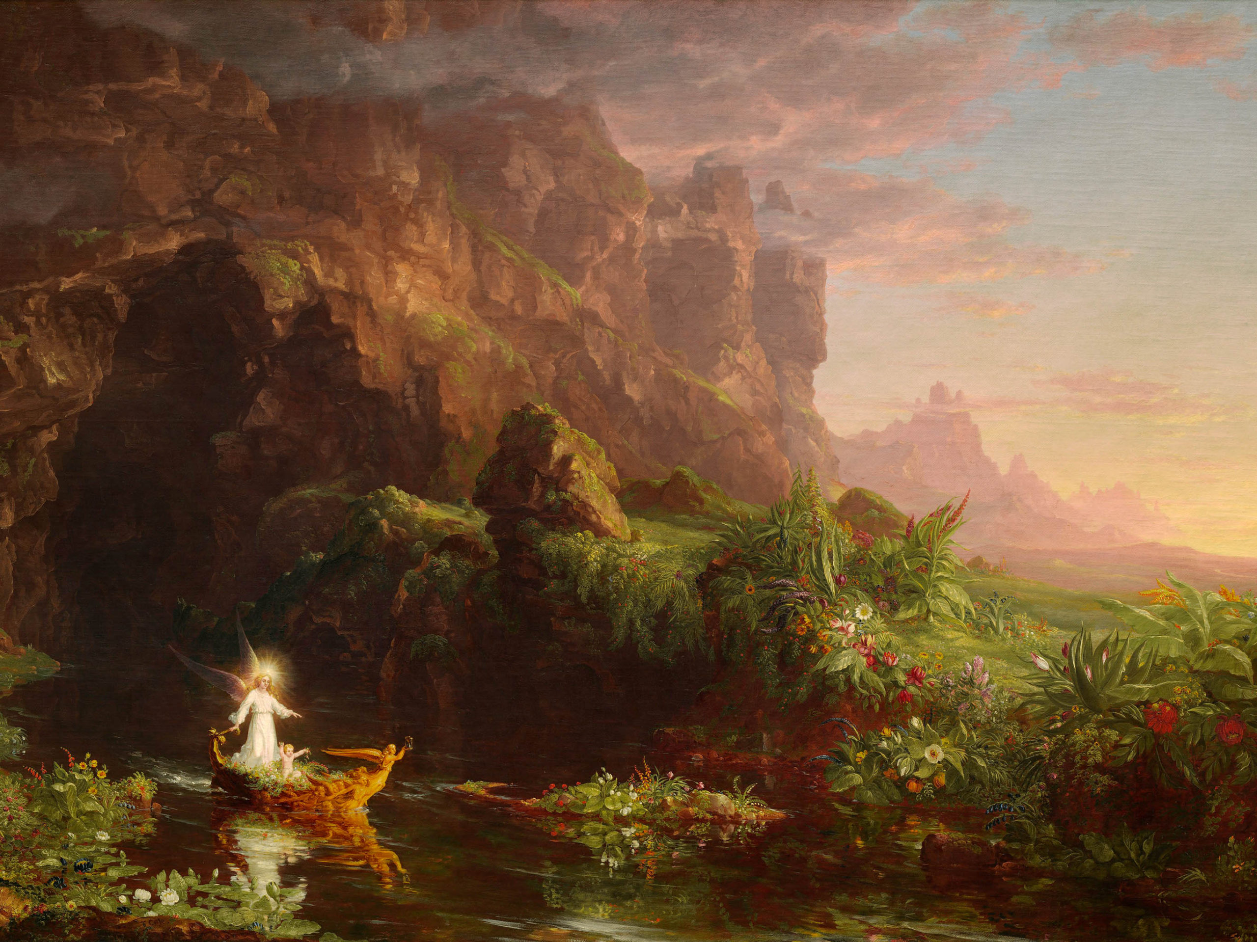 Thomas Cole - The Voyage of Life Childhood 2732x2048