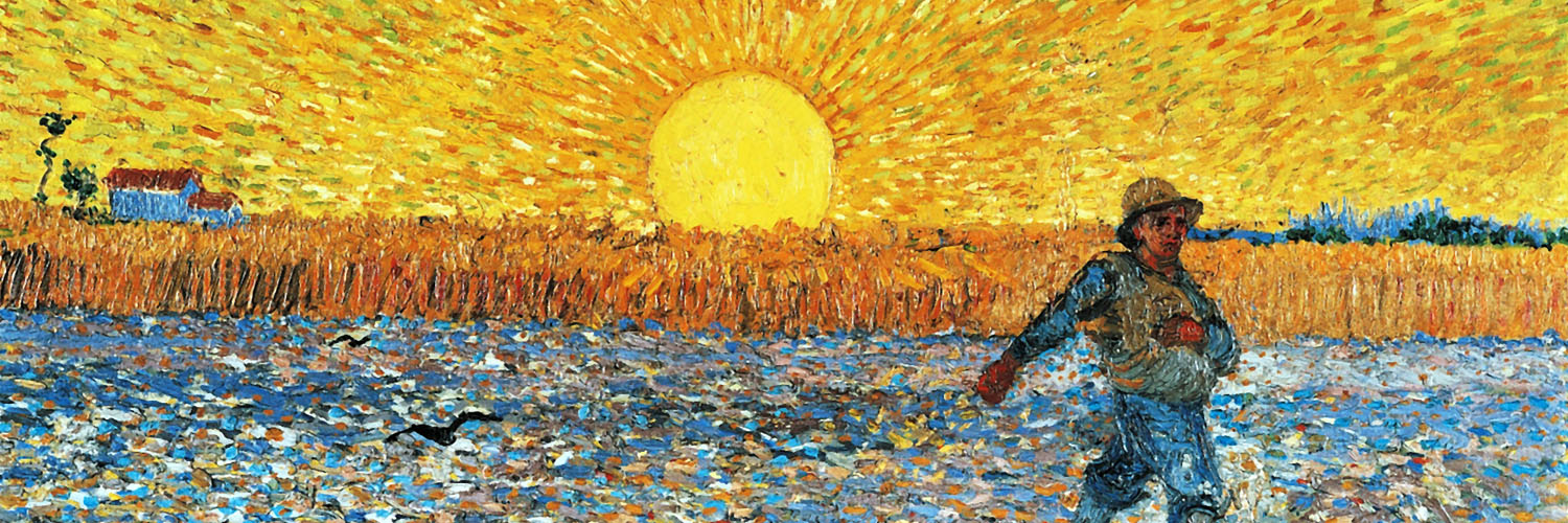 Vincent van Gogh – The Sower 1500x500