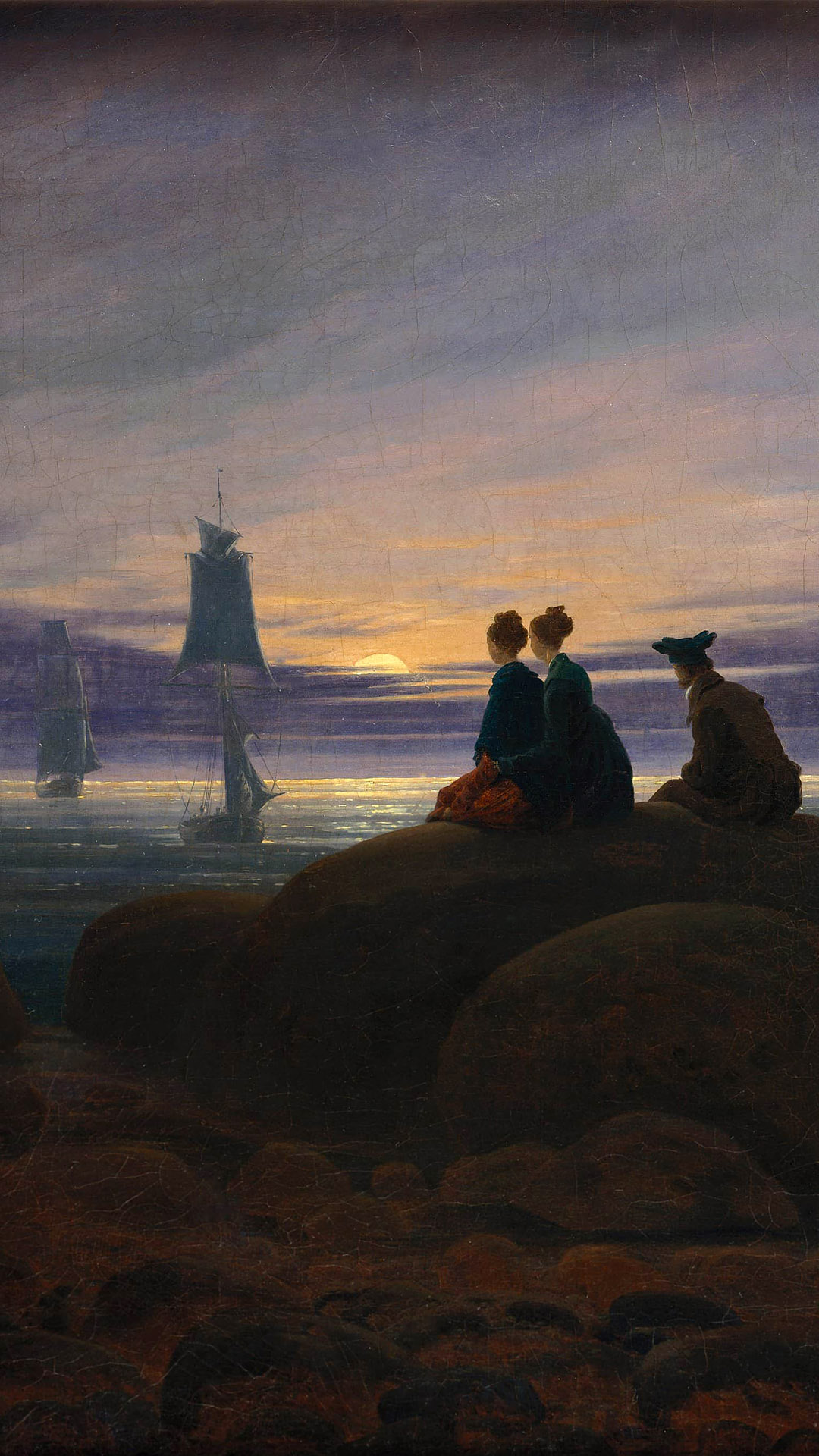 Caspar David Friedrich - Moonrise by the Sea 1080x1920