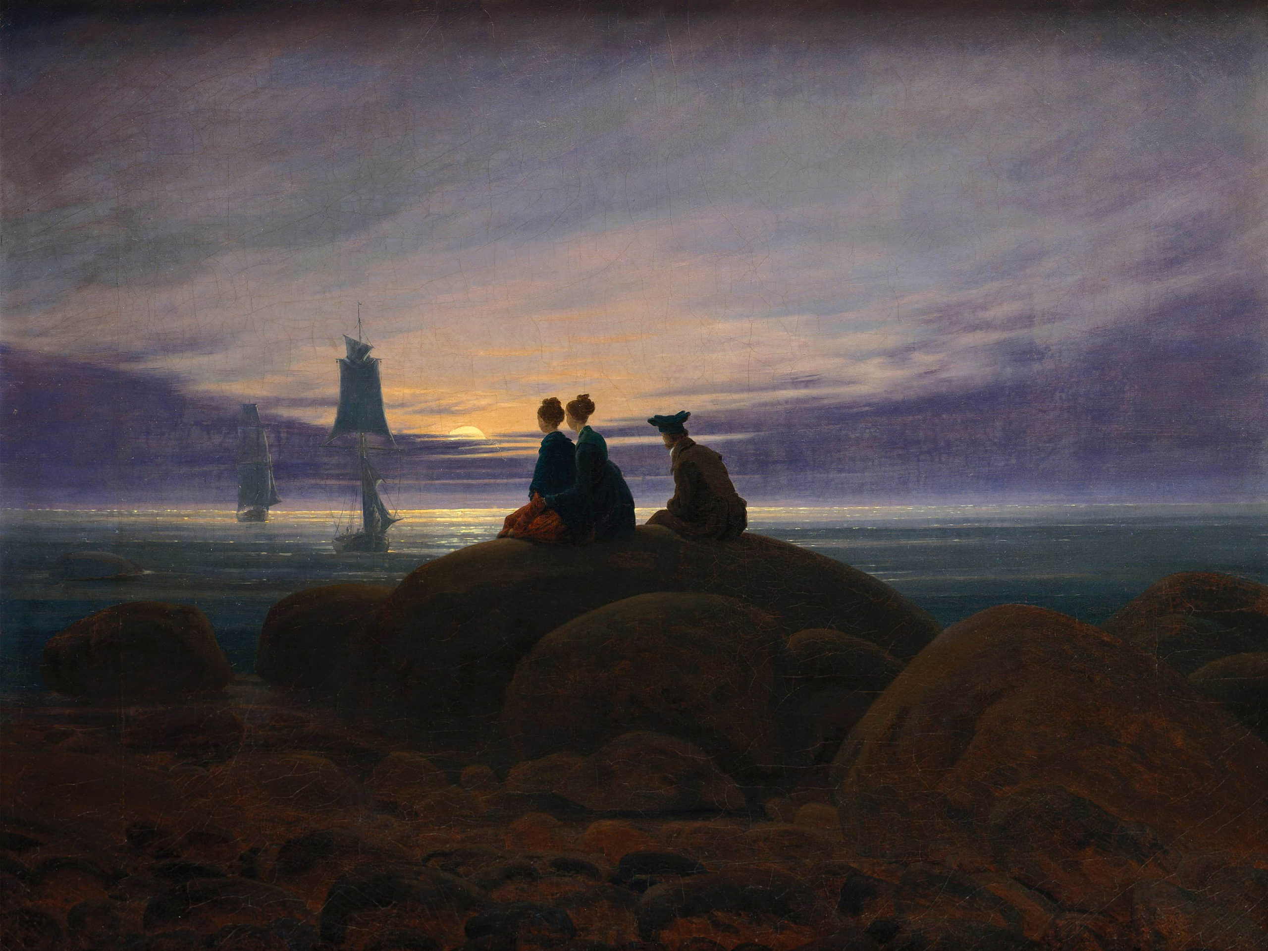 Caspar David Friedrich - Moonrise by the Sea 2732x2048