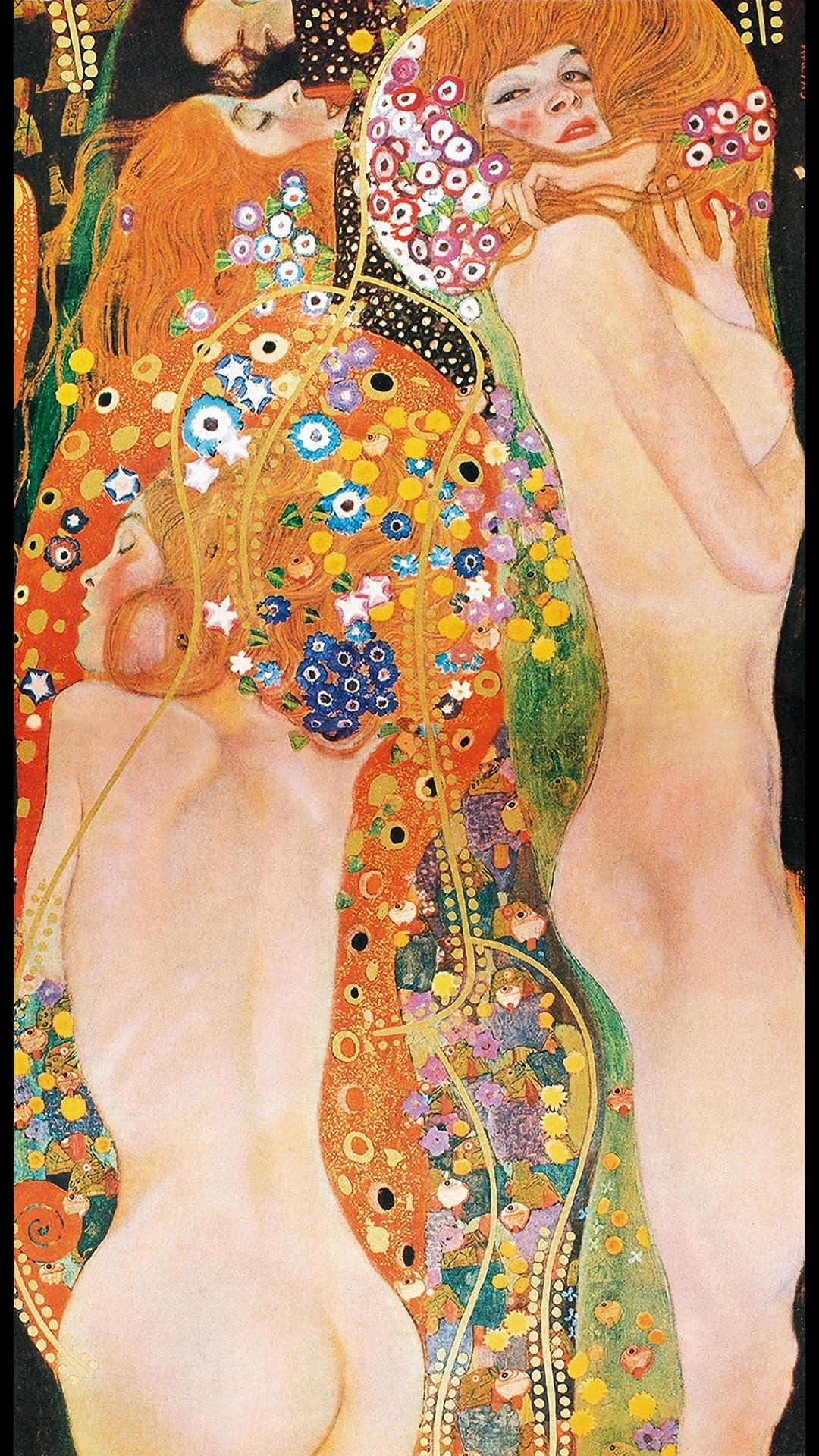 Gustav Klimt - Water Serpents II 1080x1920