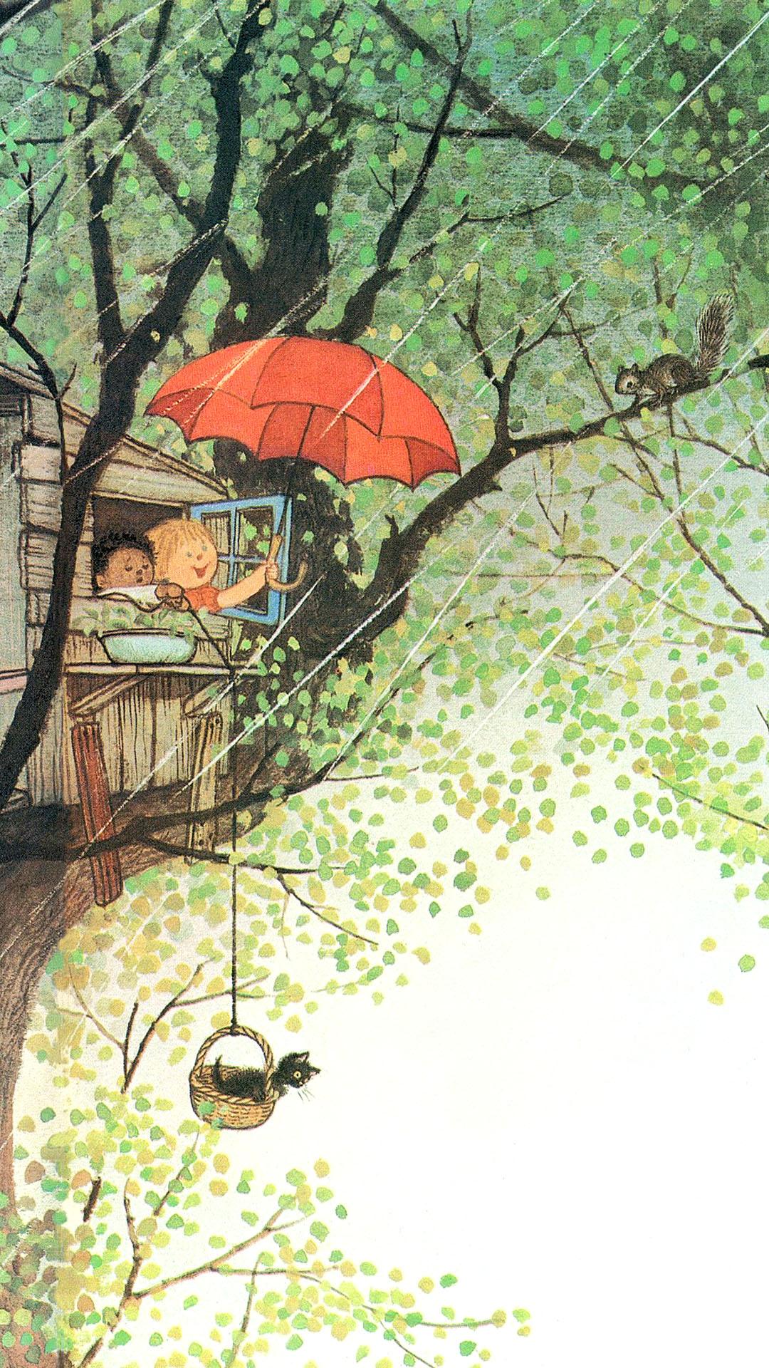 Gyo Fujikawa - It's raining! 1080x1920