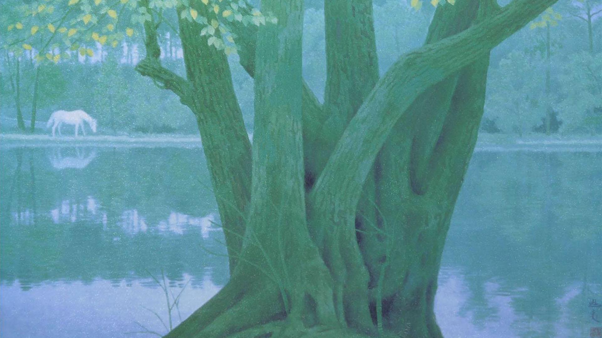 東山魁夷 若葉の季節 Higasgiyma Kaii - Wakaba no kisetsu 1920x1080