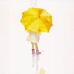 いわさきちひろ / 黄色い傘の少女