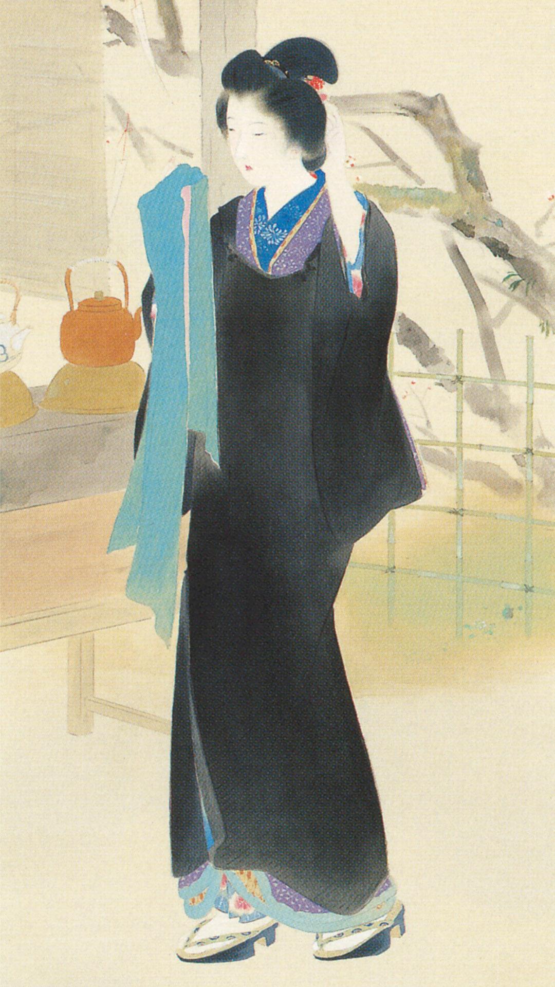 Kaburaki Kiyokata - Meiji 12 fuzoku 02 Ume yashiki 1080x1920