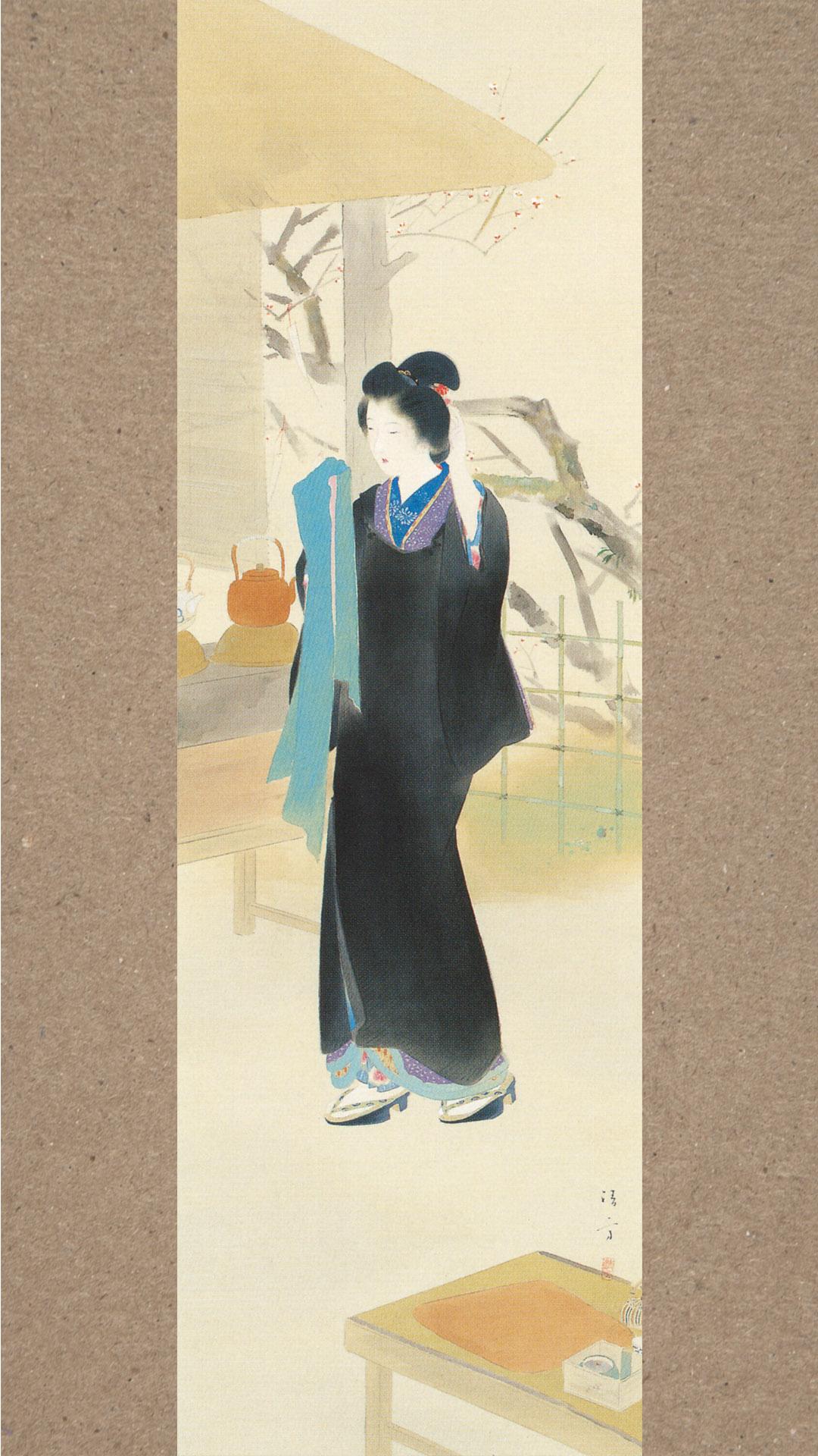 Kaburaki Kiyokata - Meiji 12 fuzoku 02 Ume yashiki 1080x1920 2