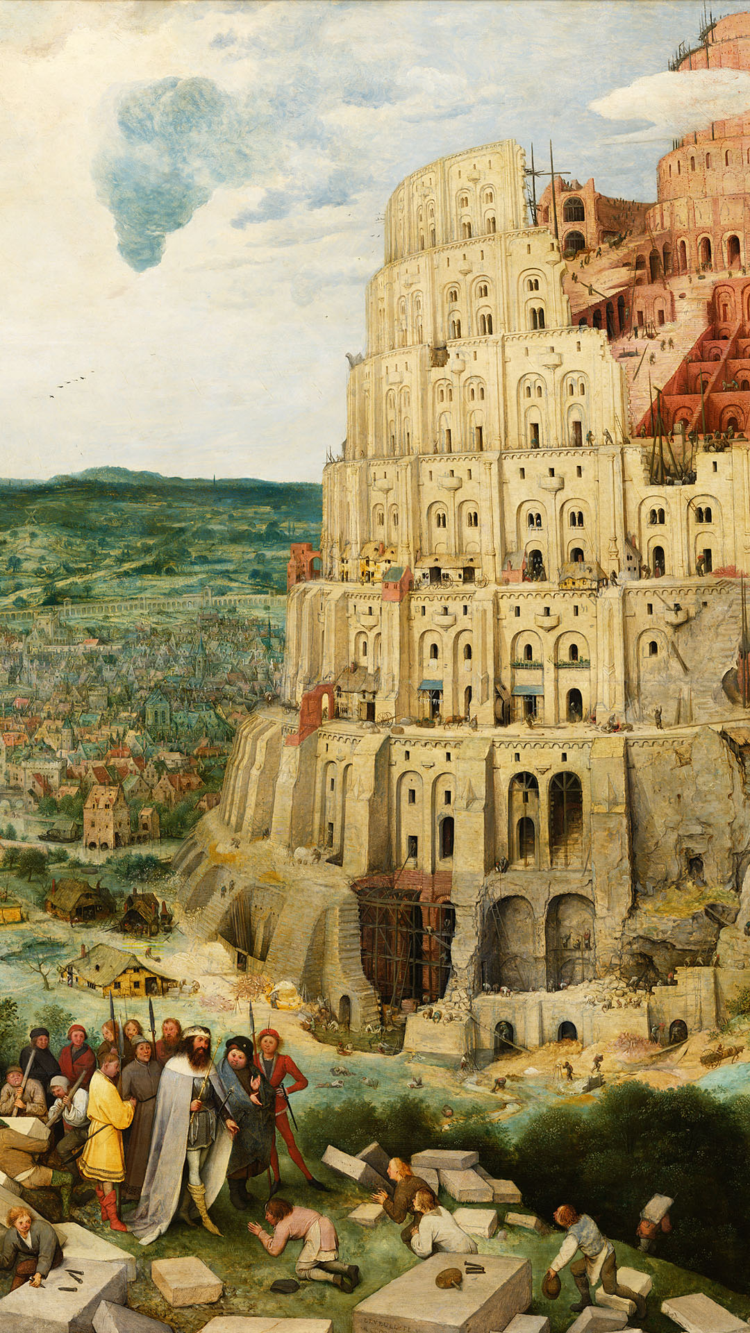 Pieter Bruegel - The Tower of Babel 1080x1920