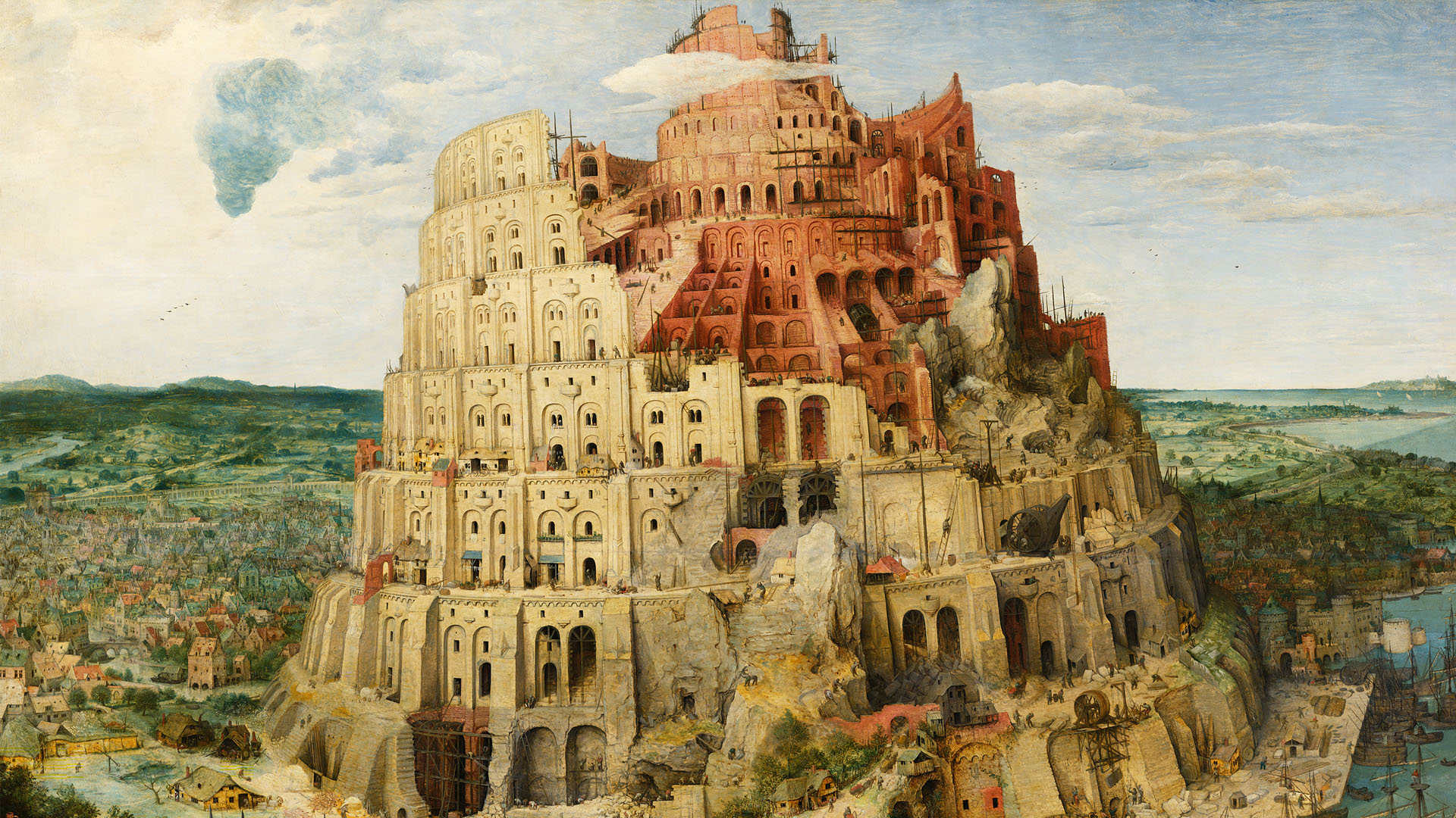 バベルの塔 Pieter Bruegel - The Tower of Babel 1920x1080
