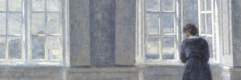 Vilhelm Hammershoi - Tall windows 1500x500