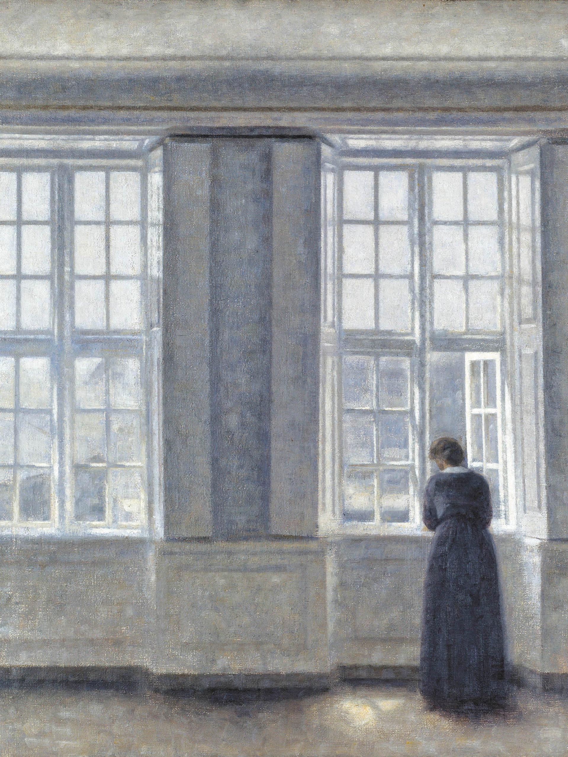 Vilhelm Hammershoi - Tall windows 2048x2732