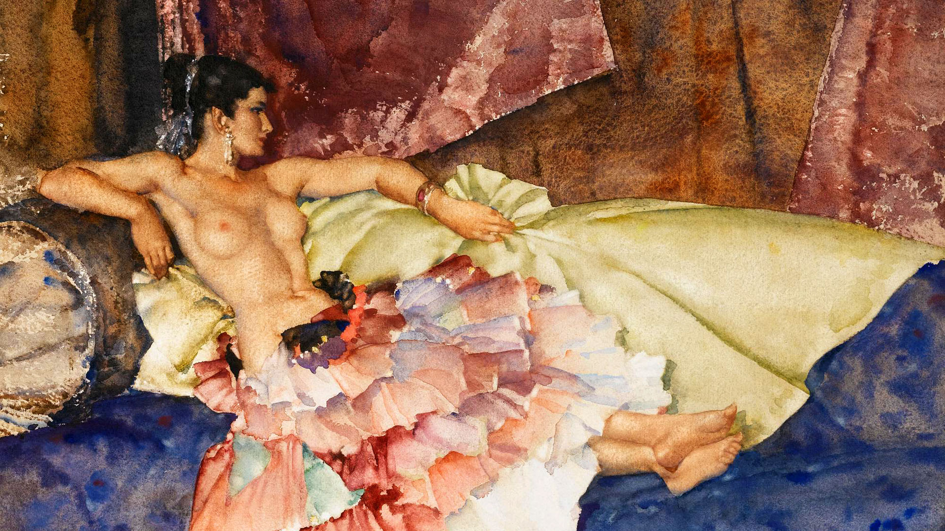 William Russell Flint - Olearia 1920x1080