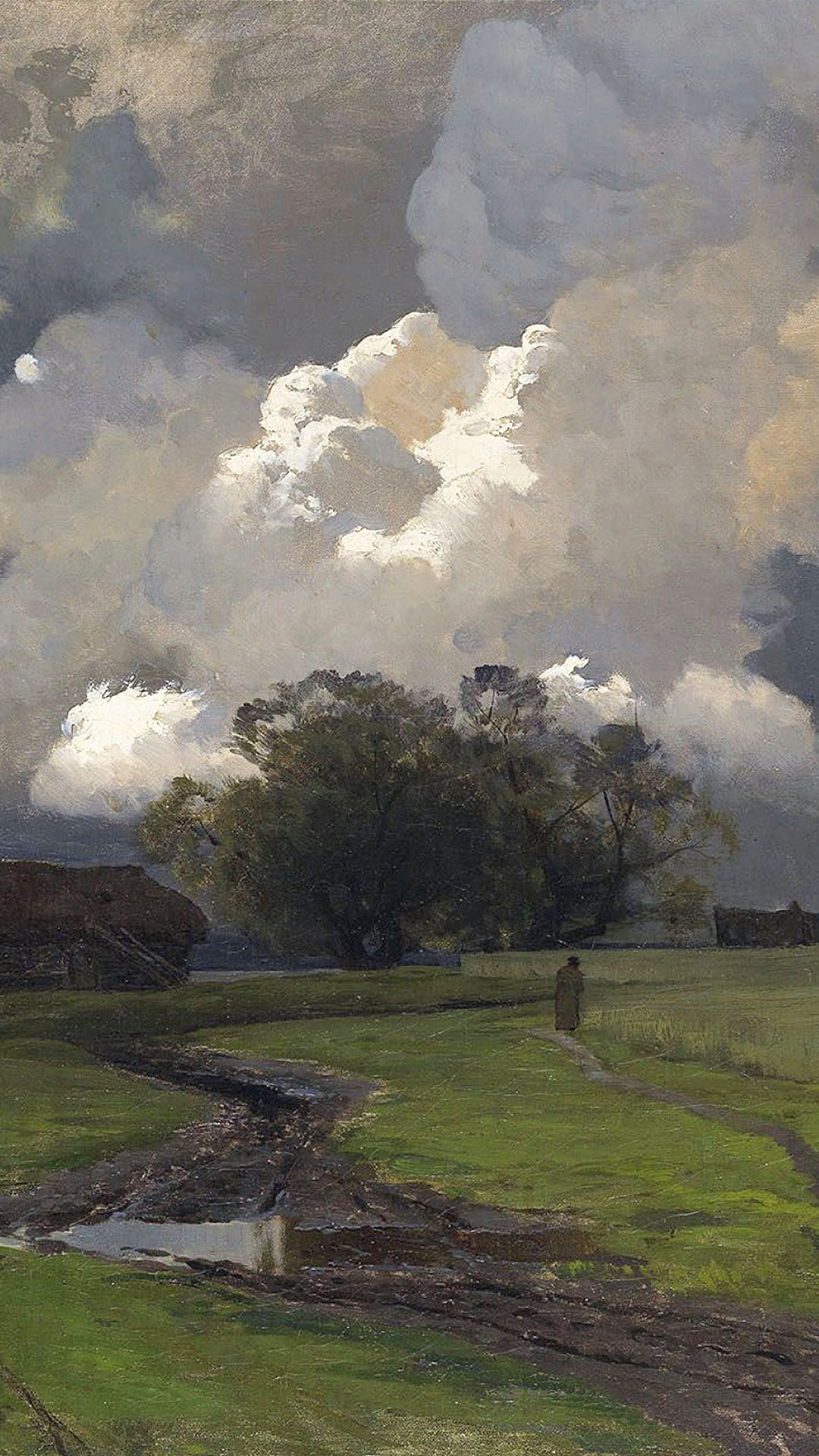 isaac levitan - In the vicinity of the SS monastery 1080x1920