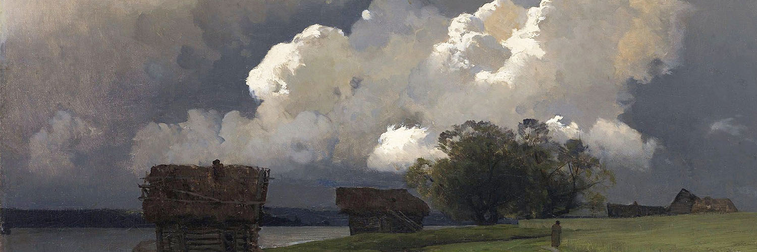 isaac levitan - In the vicinity of the SS monastery 1500x500