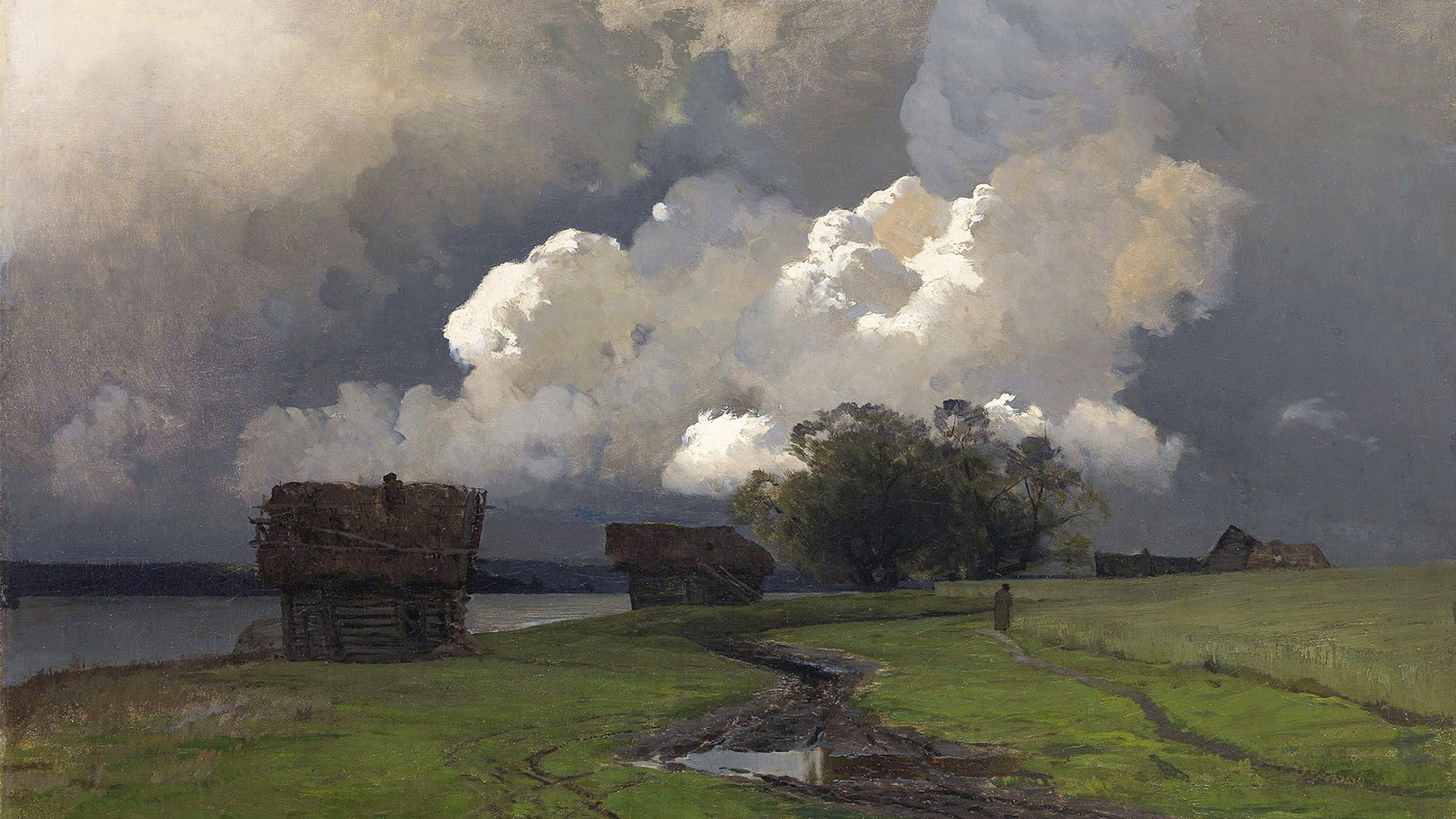 isaac levitan - In the vicinity of the SS monastery 1920x1080