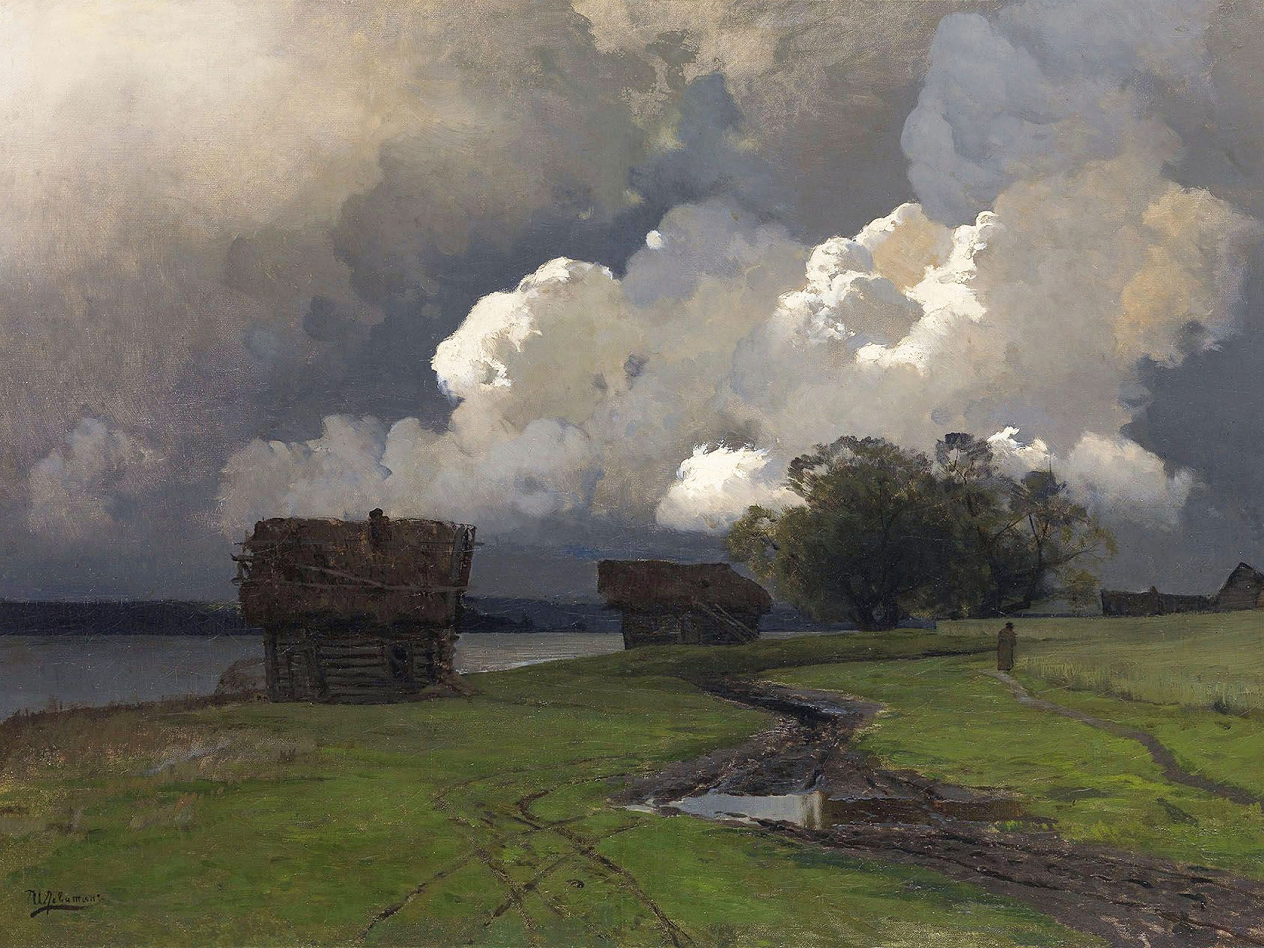 isaac levitan - In the vicinity of the SS monastery 2732x2048