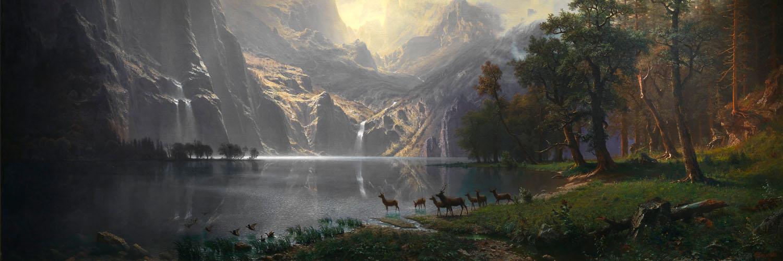 Albert Bierstadt - Among the Sierra Nevada, California 1500x500