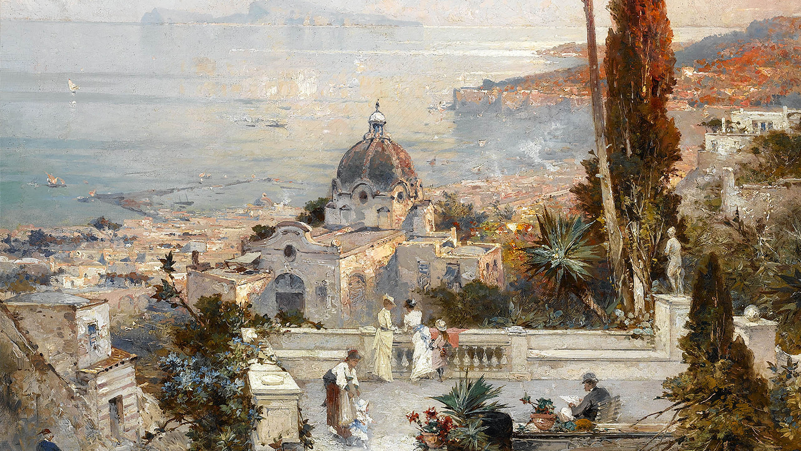 Franz Richard Unterberger - The view from the Balcony 2560x1440