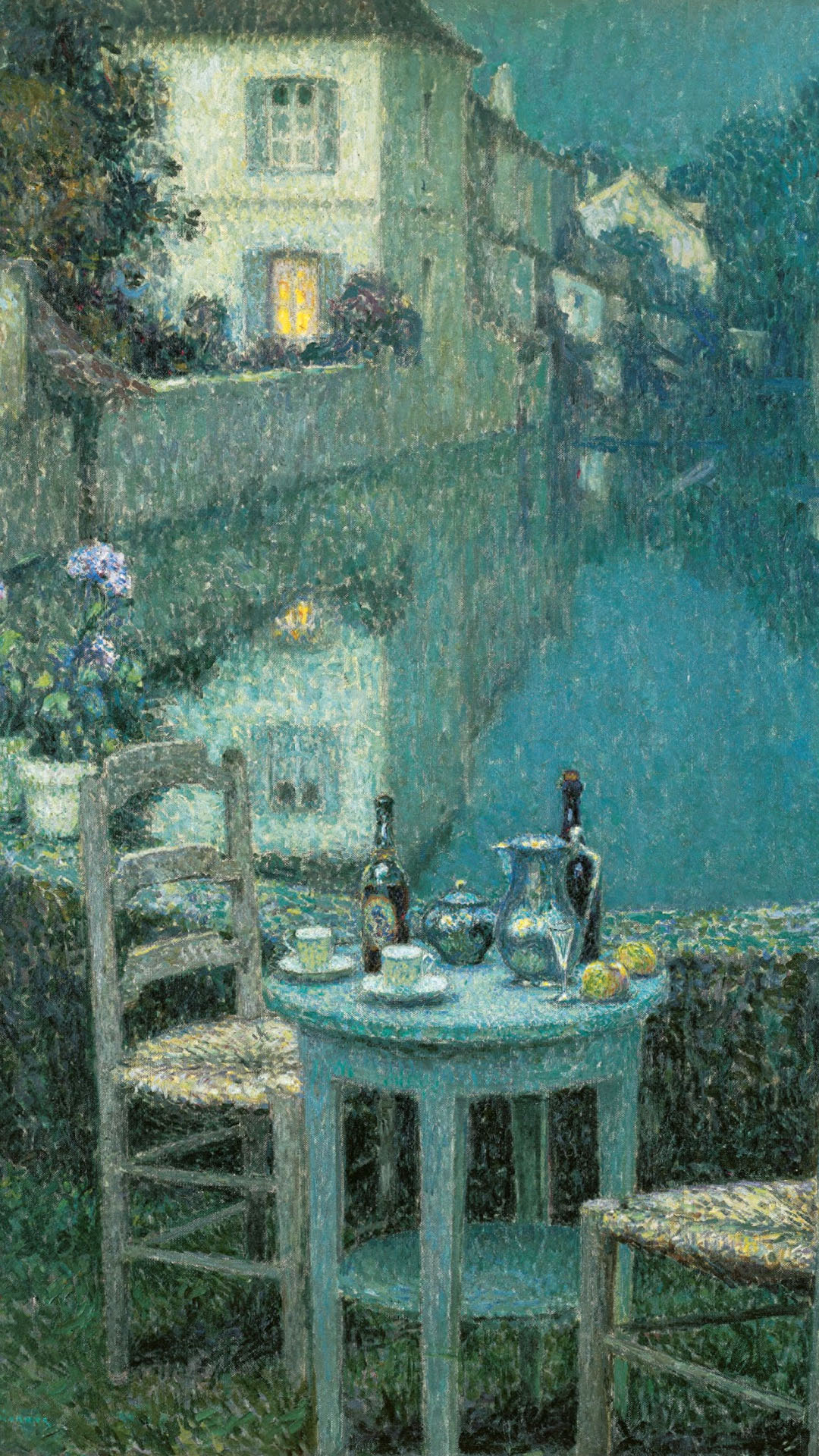 Henri Le Sidaner - Small Table in Evening Dusk 1080x1920