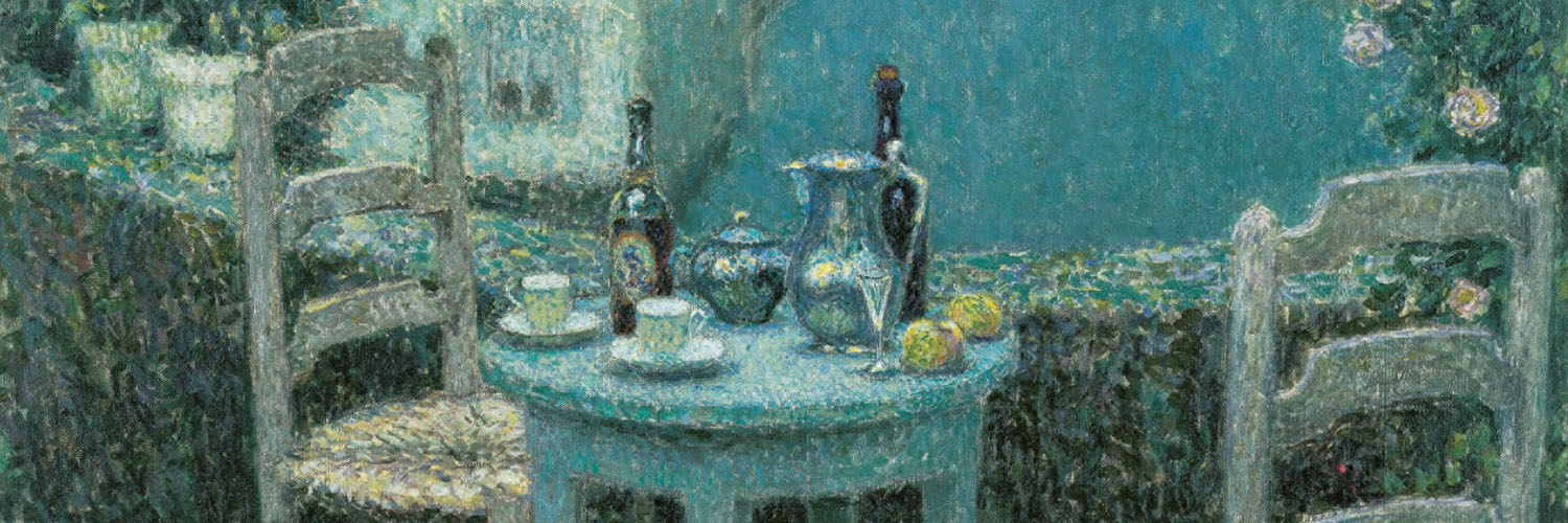 Henri Le Sidaner - Small Table in Evening Dusk 1500x500