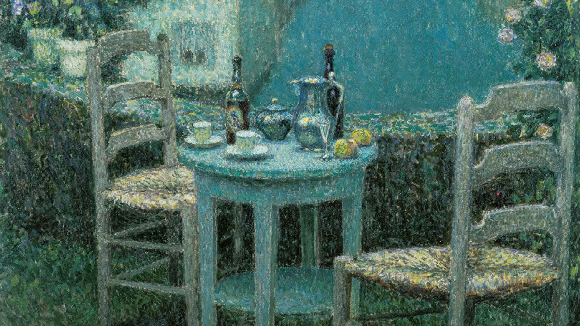 Henri Le Sidaner - Small Table in Evening Dusk 1920x1080