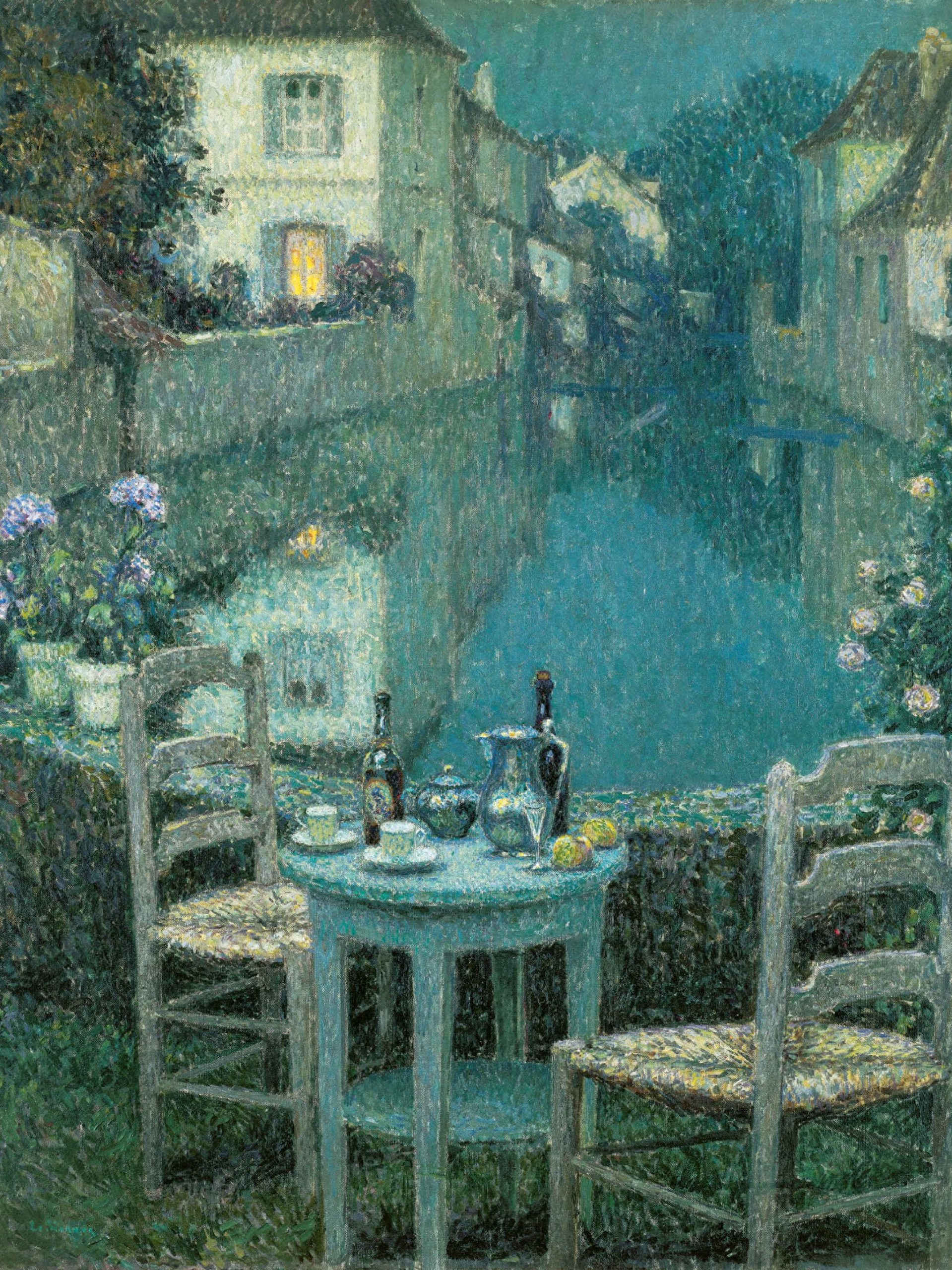 Henri Le Sidaner - Small Table in Evening Dusk 2048x2732