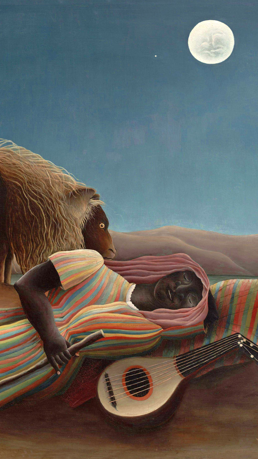 Henri Rousseau - The Sleeping Gypsy 1080x1920