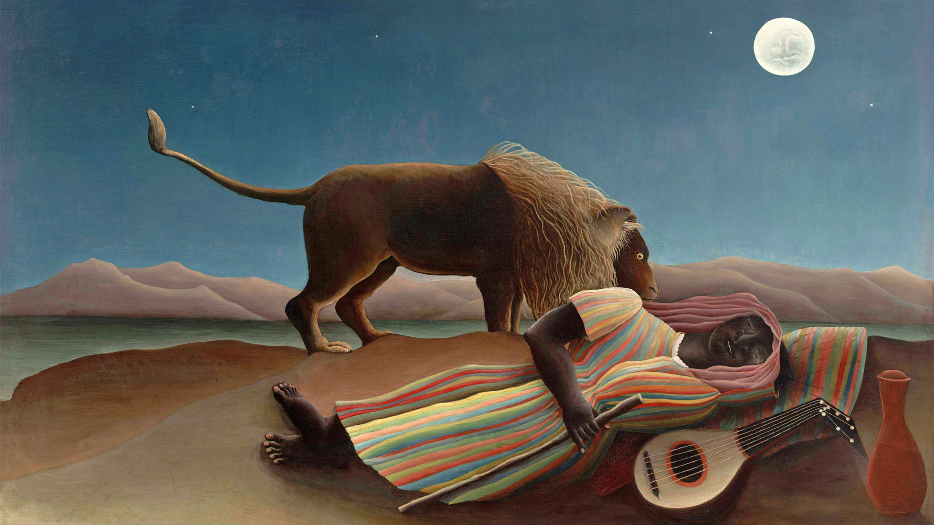 Henri Rousseau - The Sleeping Gypsy 1920x1080