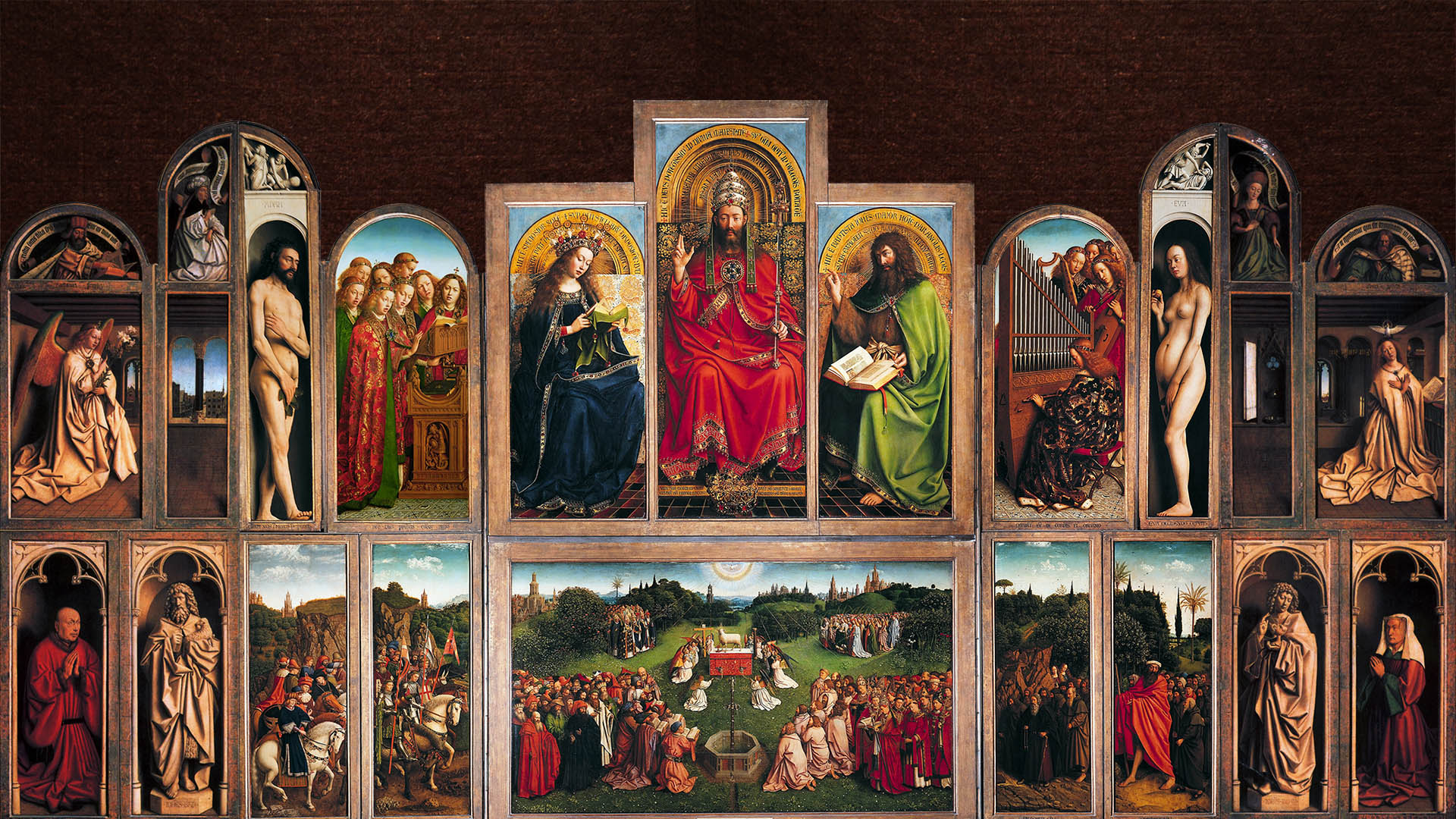 Jan van Eyck - Gents altaarstuk 1920x1080 2