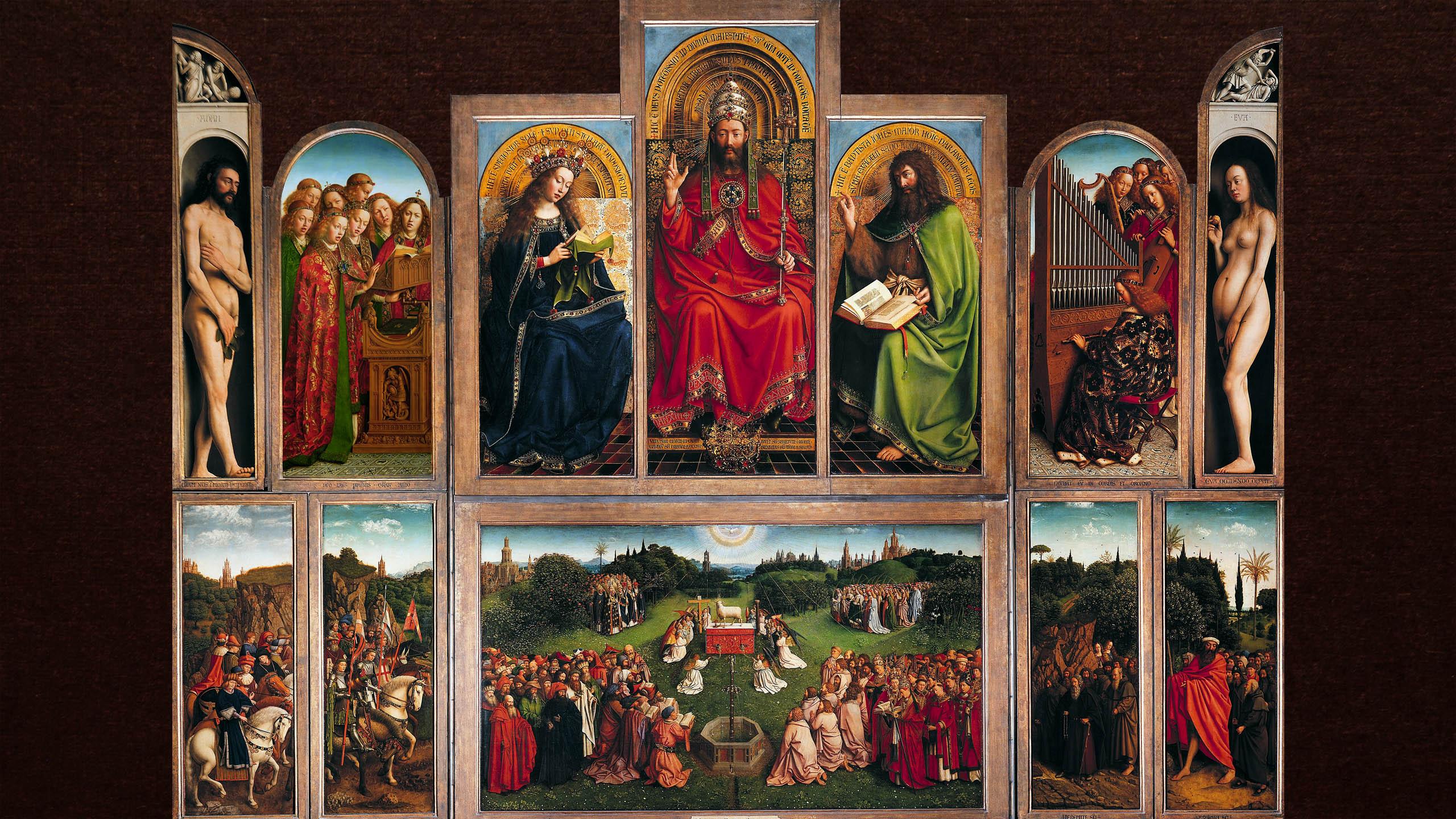 Jan van Eyck - Gents altaarstuk 2560x1440
