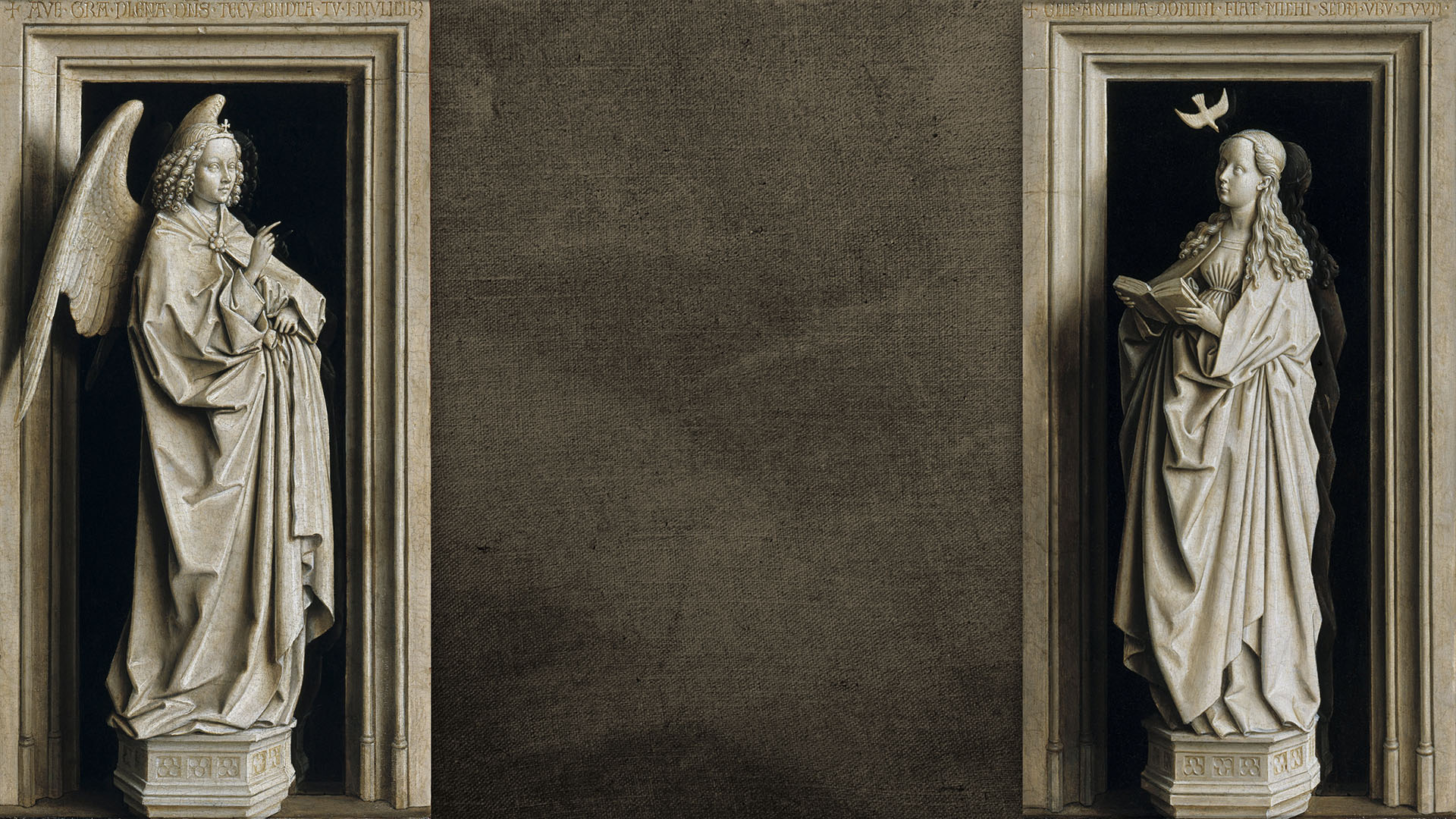Jan van Eyck - The Annunciation Diptych 1920x1080