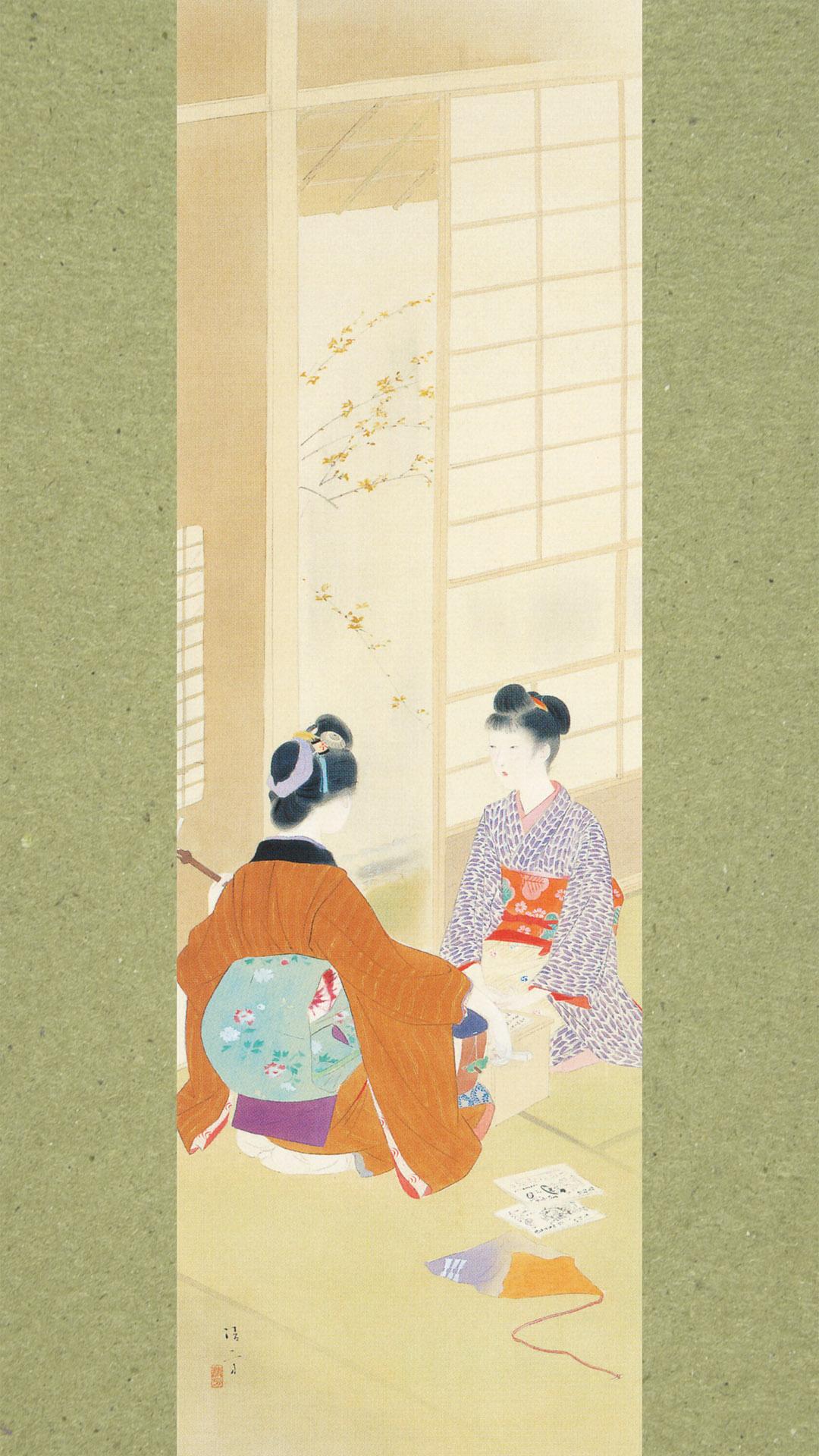 Kaburaki Kiyokata - Meiji 12 fuzoku 03 Keiko 1080x1920 2