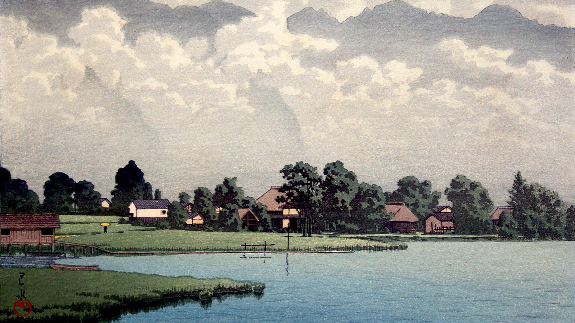 Kawase Hasui - Shinshu kisaki ko 1920x1080