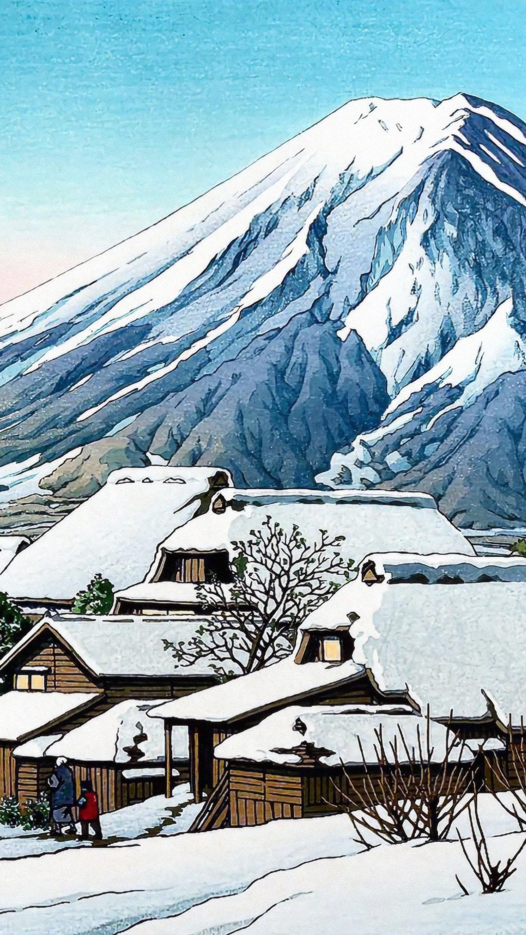 Kawase Hasui - Yoshida no yukibare 1080x1920