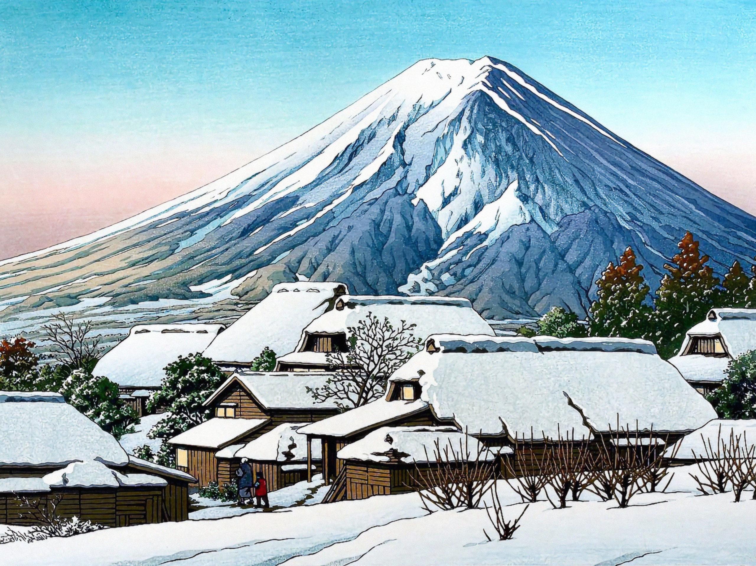 Kawase Hasui - Yoshida no yukibare 2732x2048