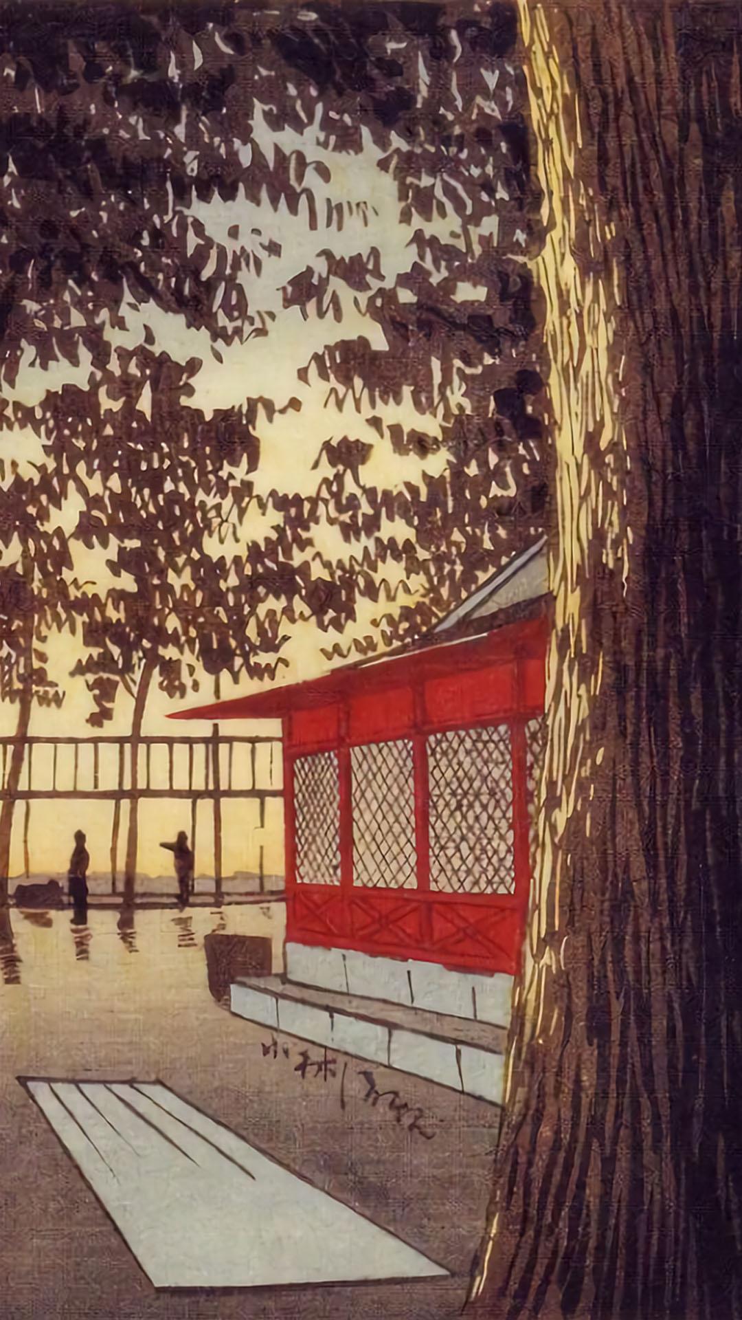 Kobayashi Kiyochika - Kanda yakumo jinja akatsuki 1080x1920