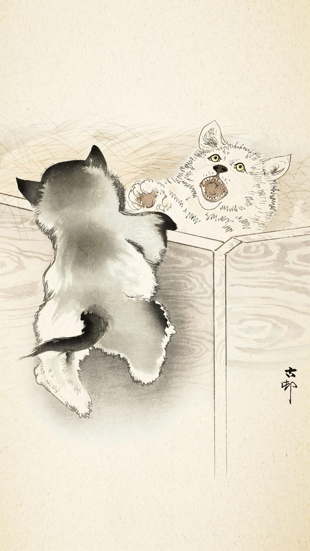 Ohara Koson - Koinu 1080x1920